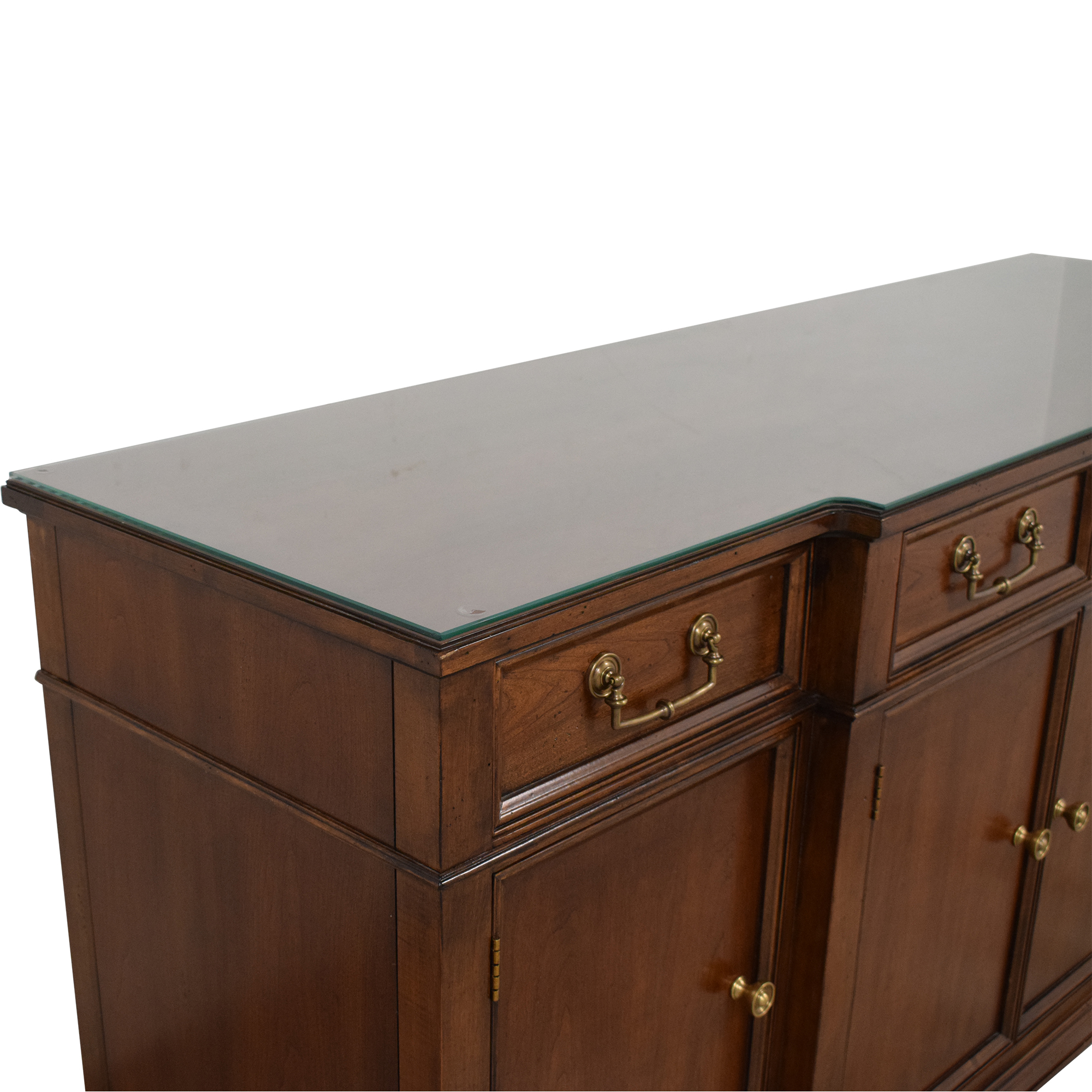 Hickory White Hickory White Four Door Four Drawer Buffet Cabinet brown