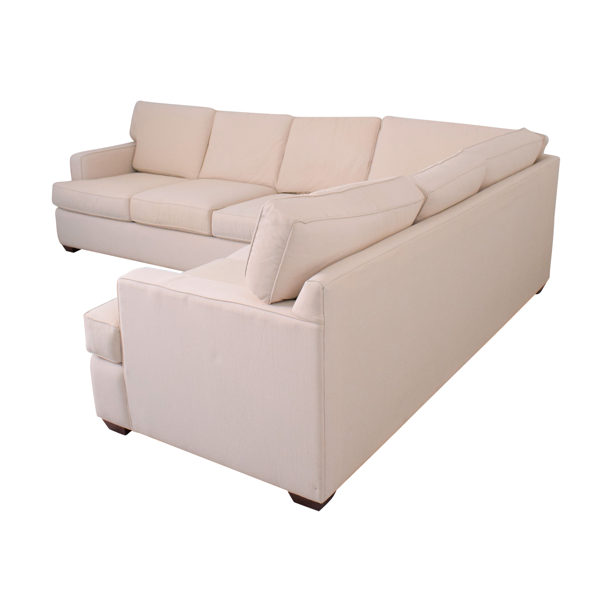 Klaussner Klaussner Loomis Sectional off white