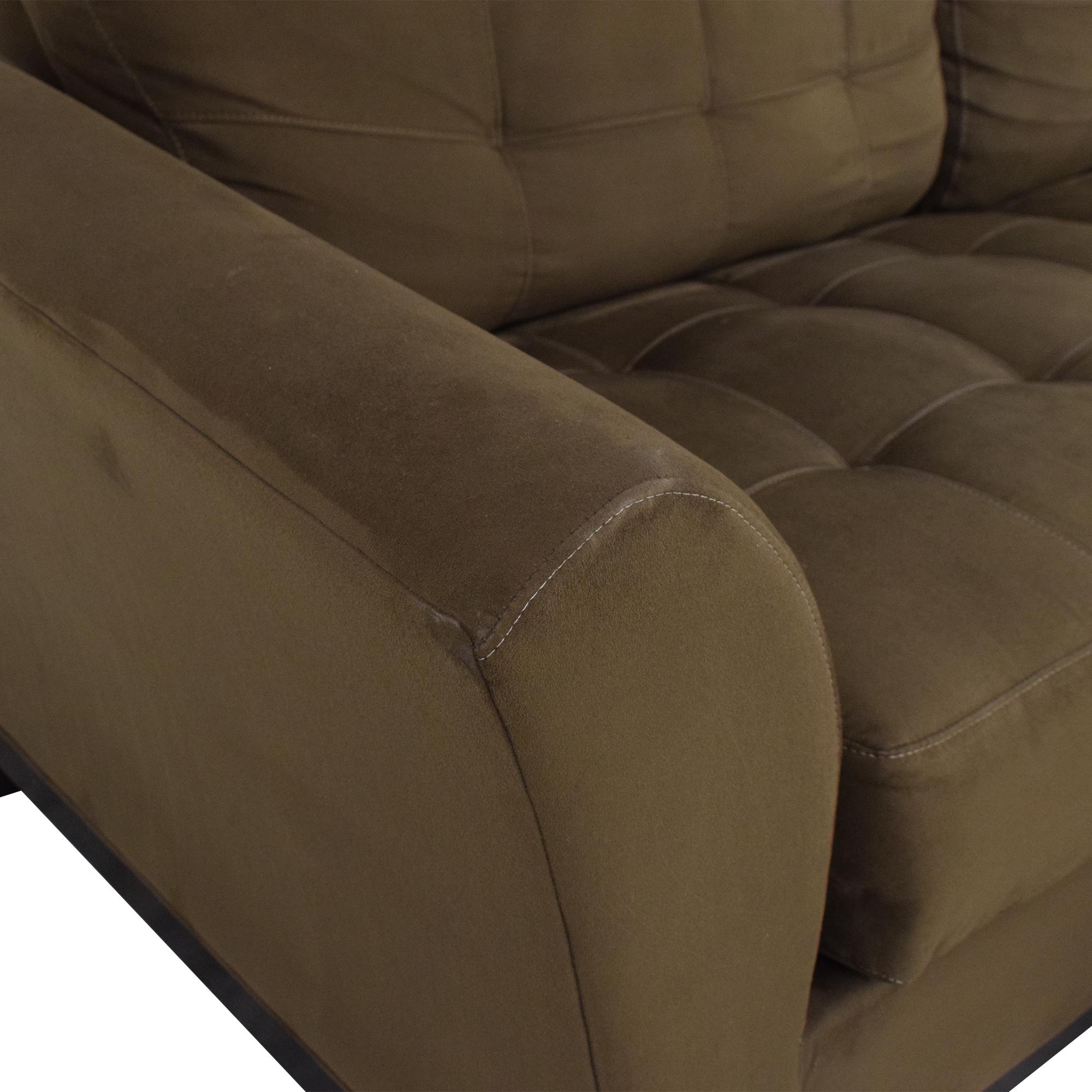 HM Richards Furniture Loveseat with Ottoman / Loveseats