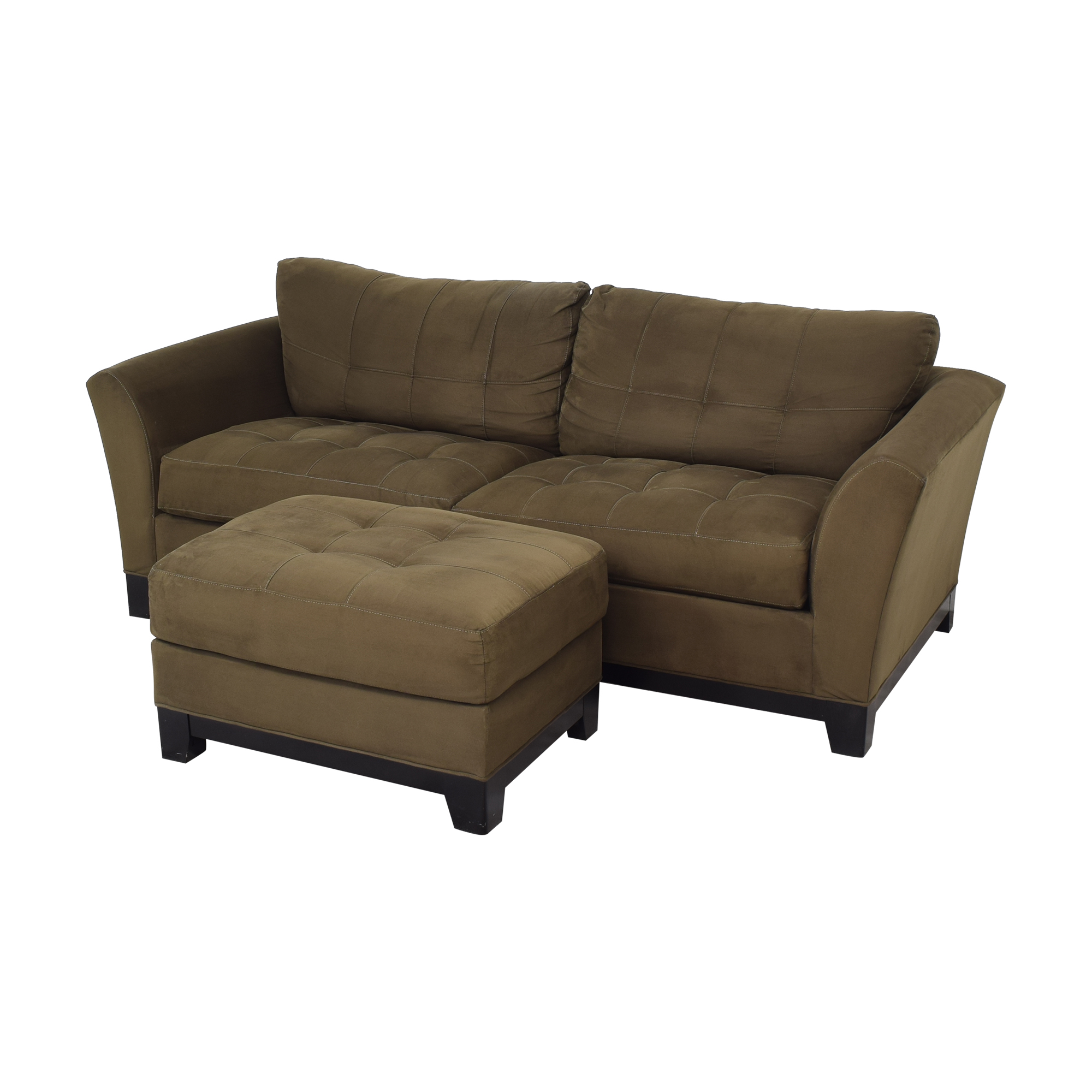 shop HM Richards Furniture Loveseat with Ottoman HM Richards Furniture Loveseats