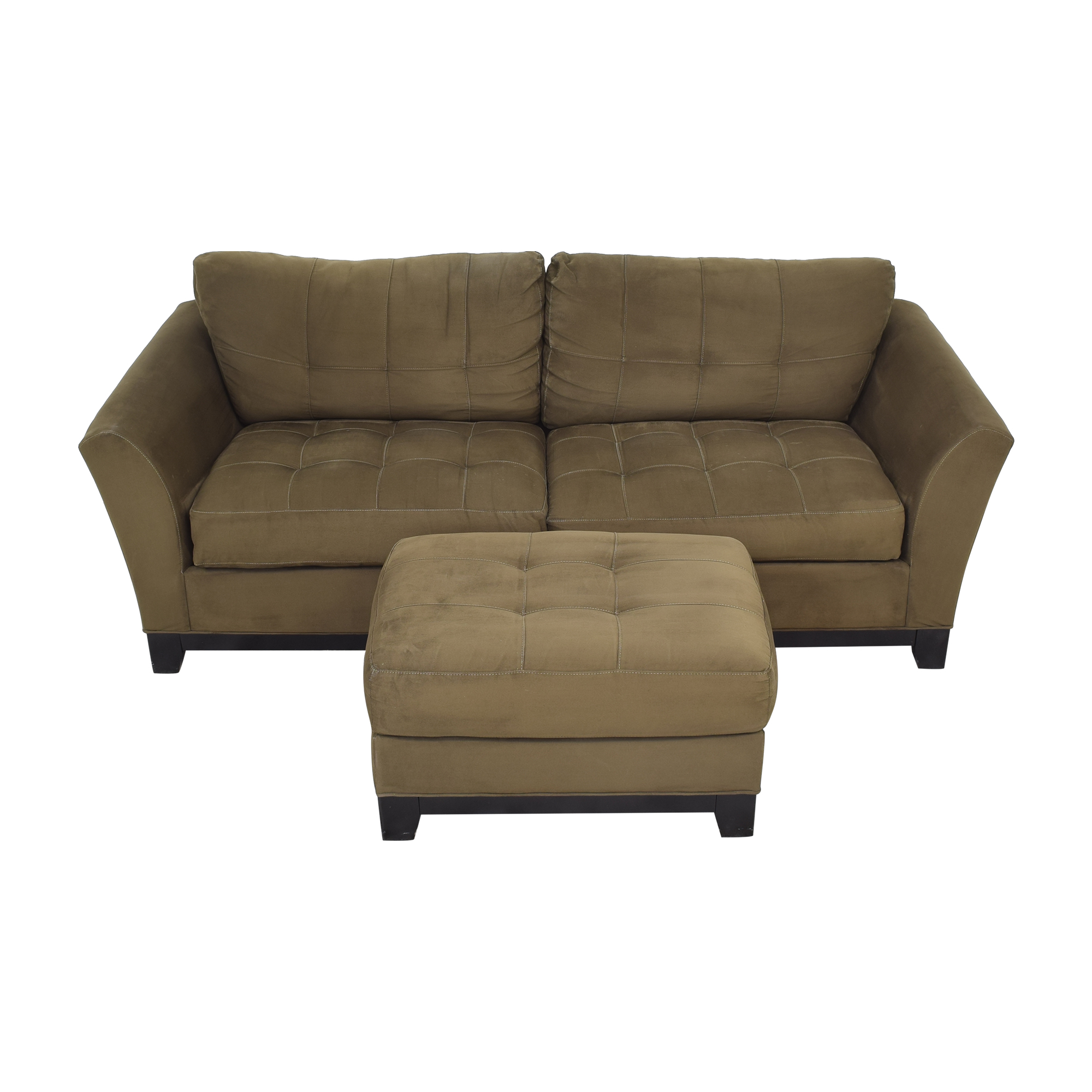 shop HM Richards Furniture Loveseat with Ottoman HM Richards Furniture