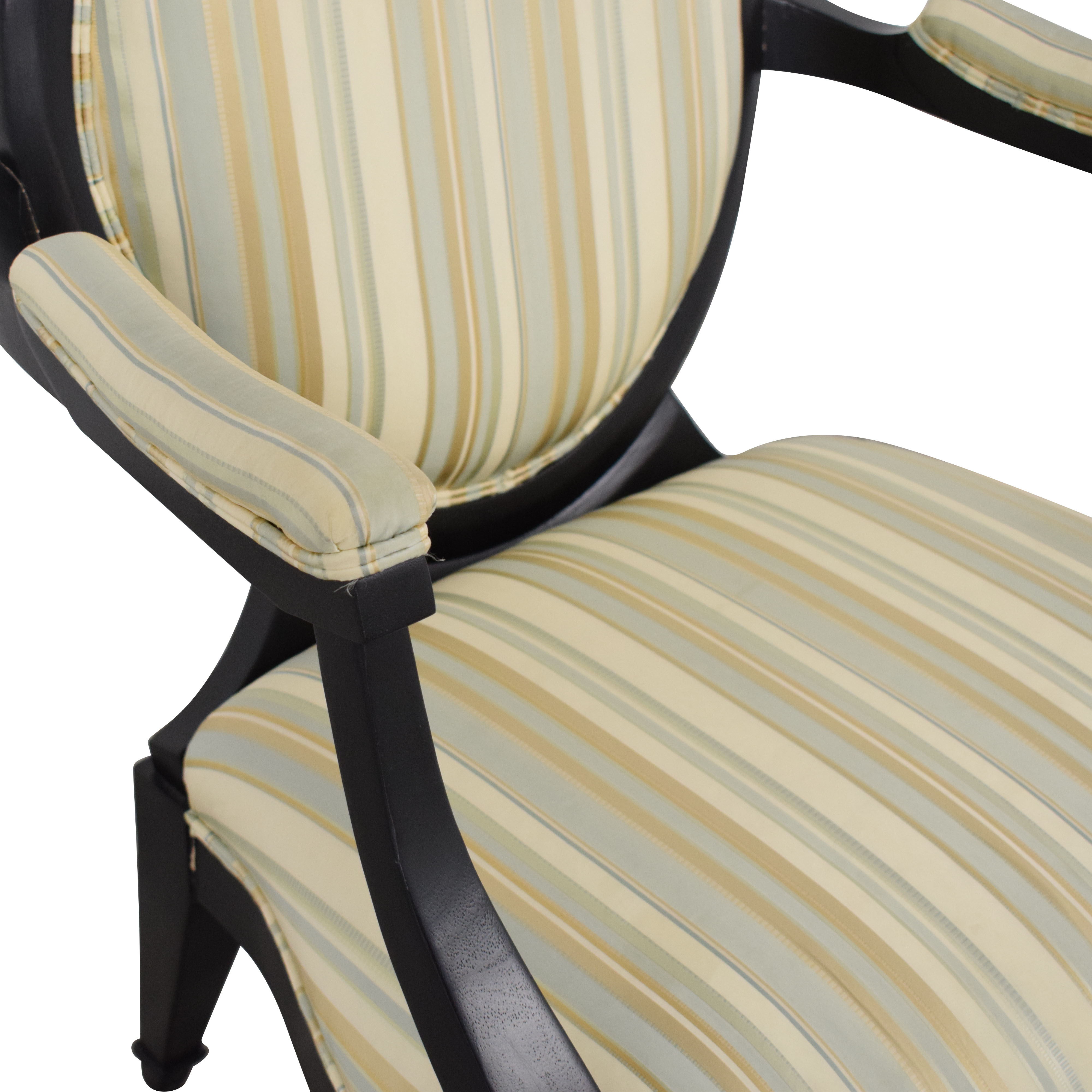 Hickory White Hickory White Silk and Wood Armchair Chairs