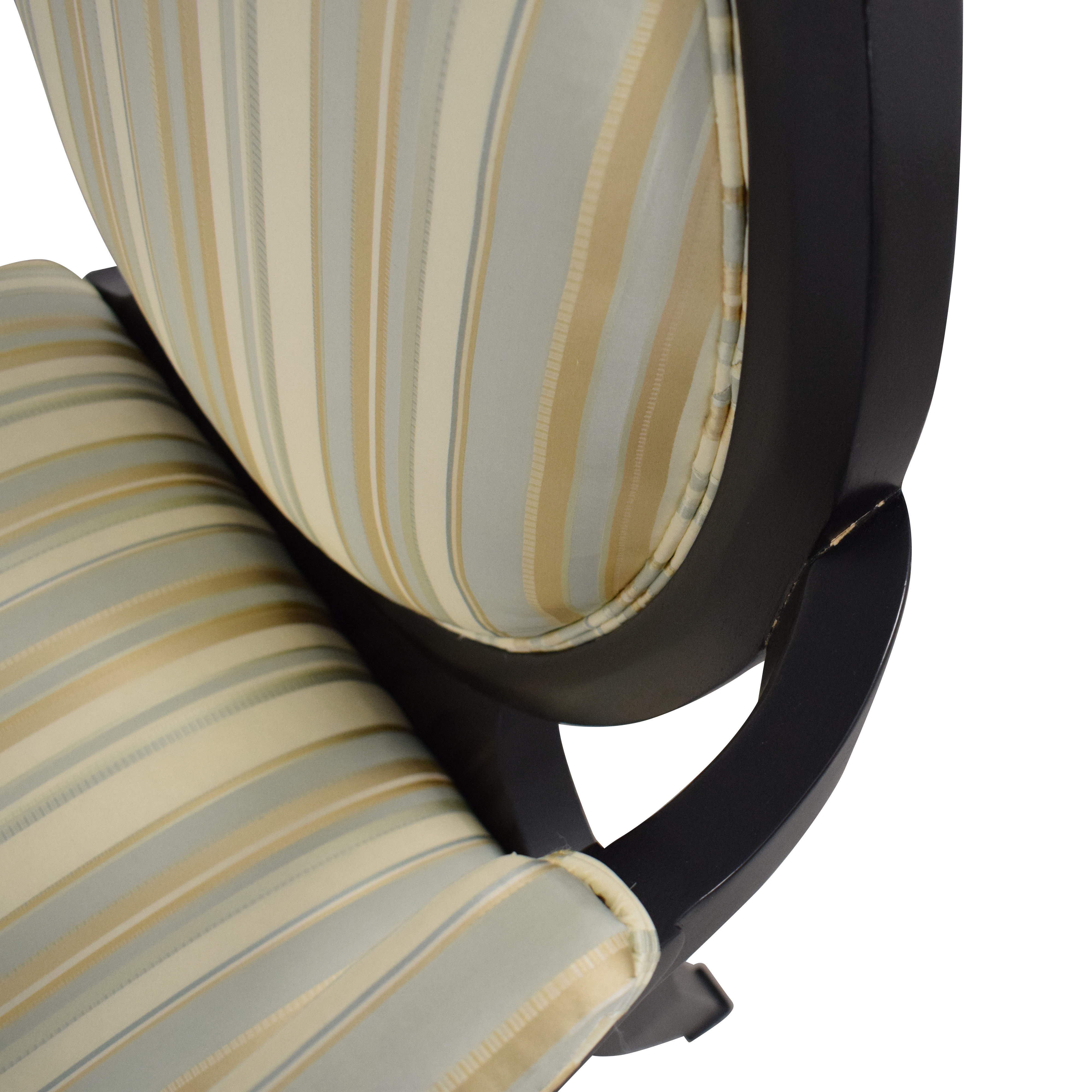 Hickory White Hickory White Silk and Wood Armchair nyc