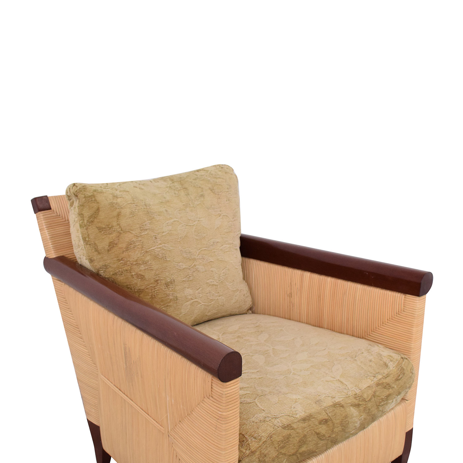 buy Donghia Donghia by John Hutton Mahogany and Wicker Lounger online