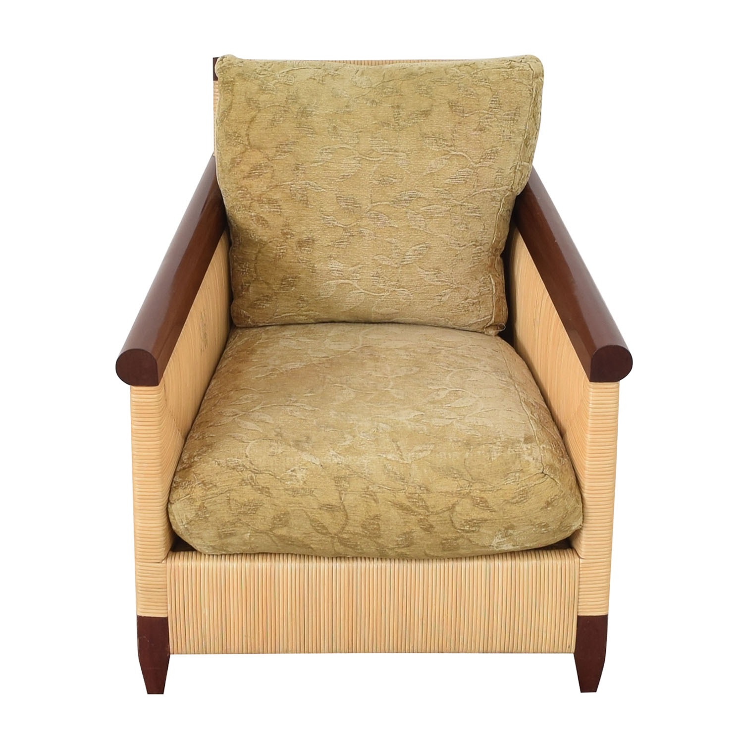 Donghia Donghia by John Hutton Mahogany and Wicker Lounger light and dark brown