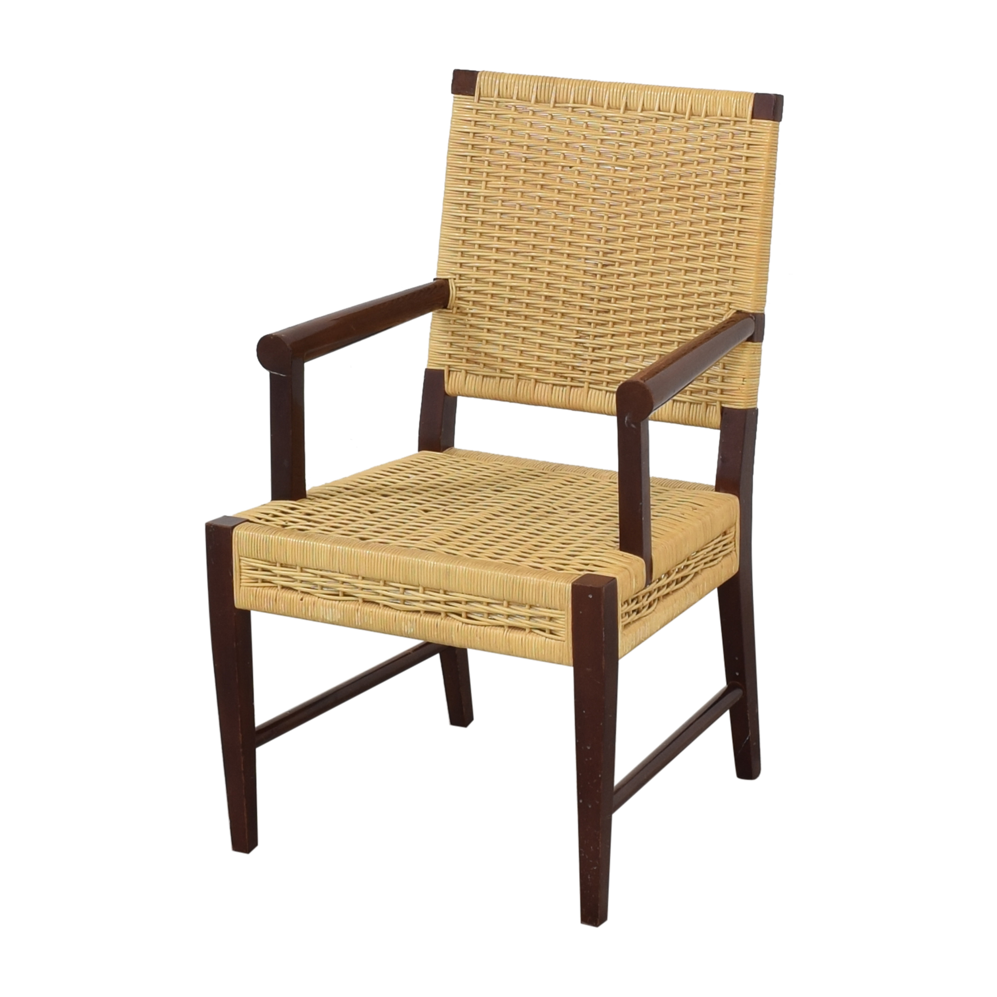 Donghia Dining Chairs in Merbau Wood with Raffia Weaving / Dining Chairs