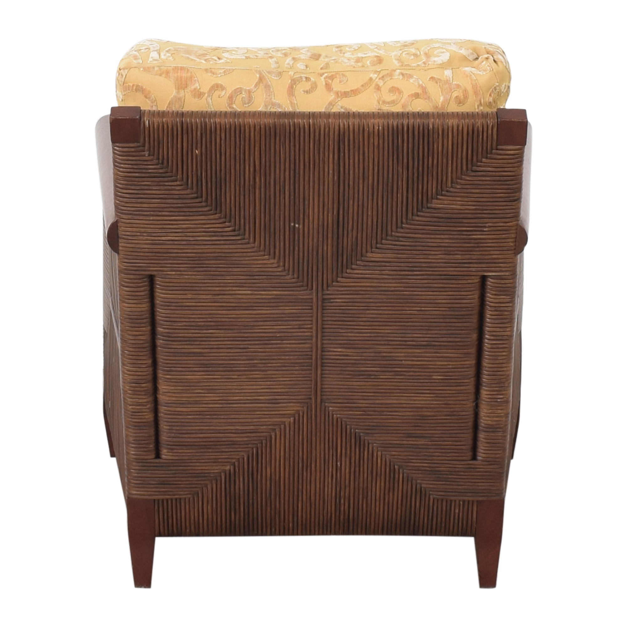 Donghia Donghia by John Hutton Mahogany and Wicker Lounger dimensions