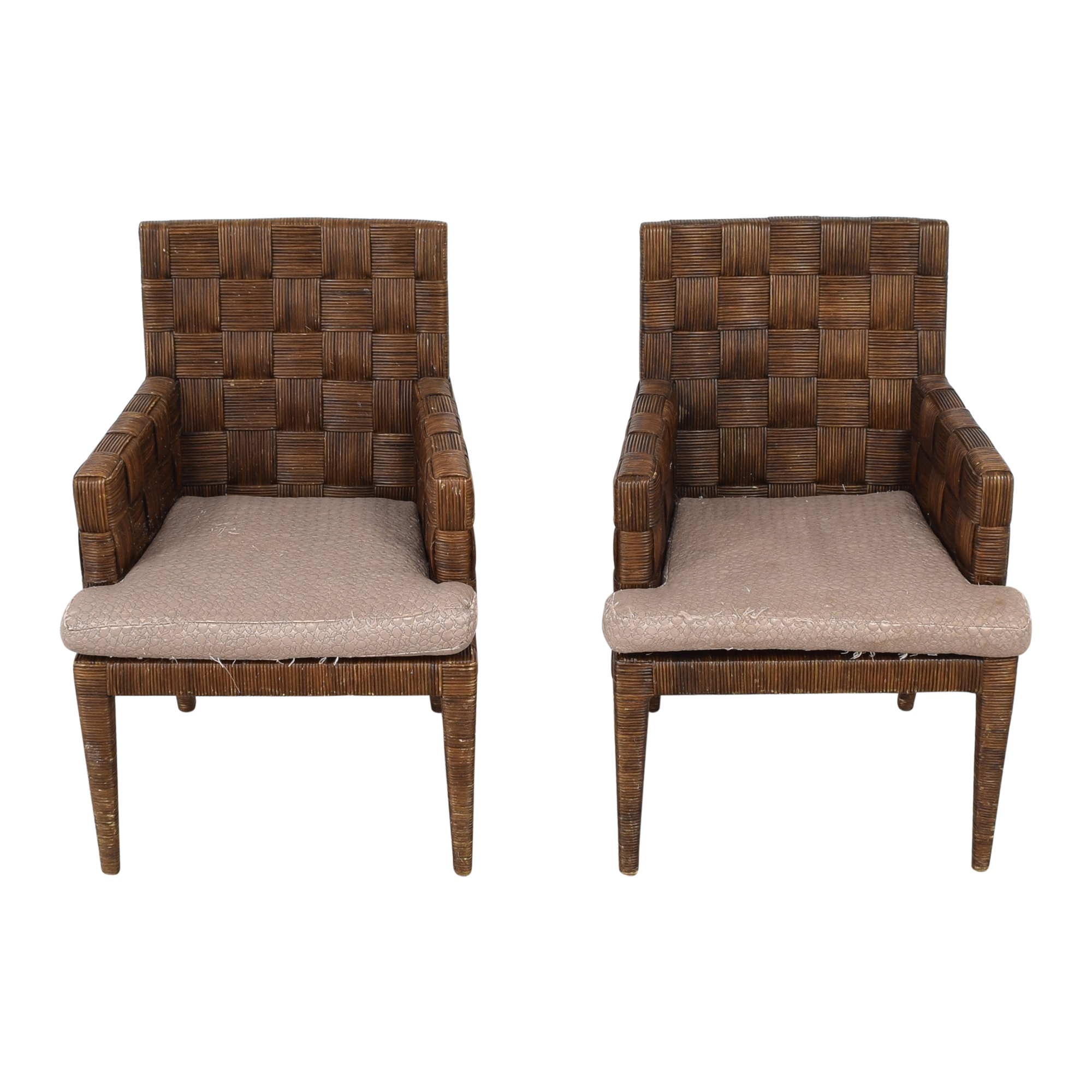 Donghia Donghia by John Hutton Block Island Dining Armchairs used