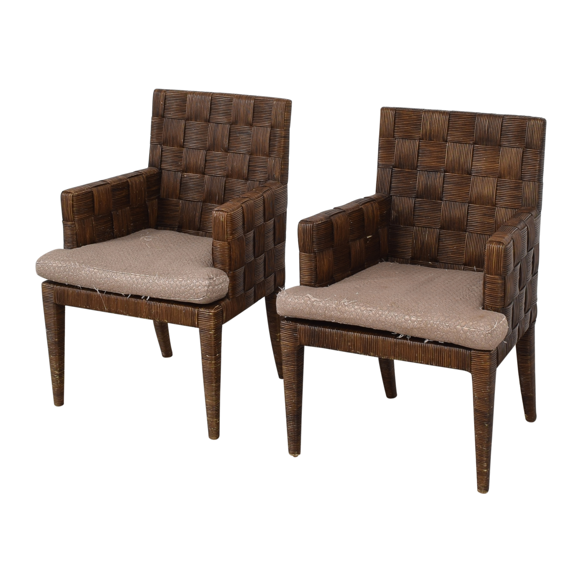 shop Donghia by John Hutton Block Island Dining Armchairs Donghia Chairs