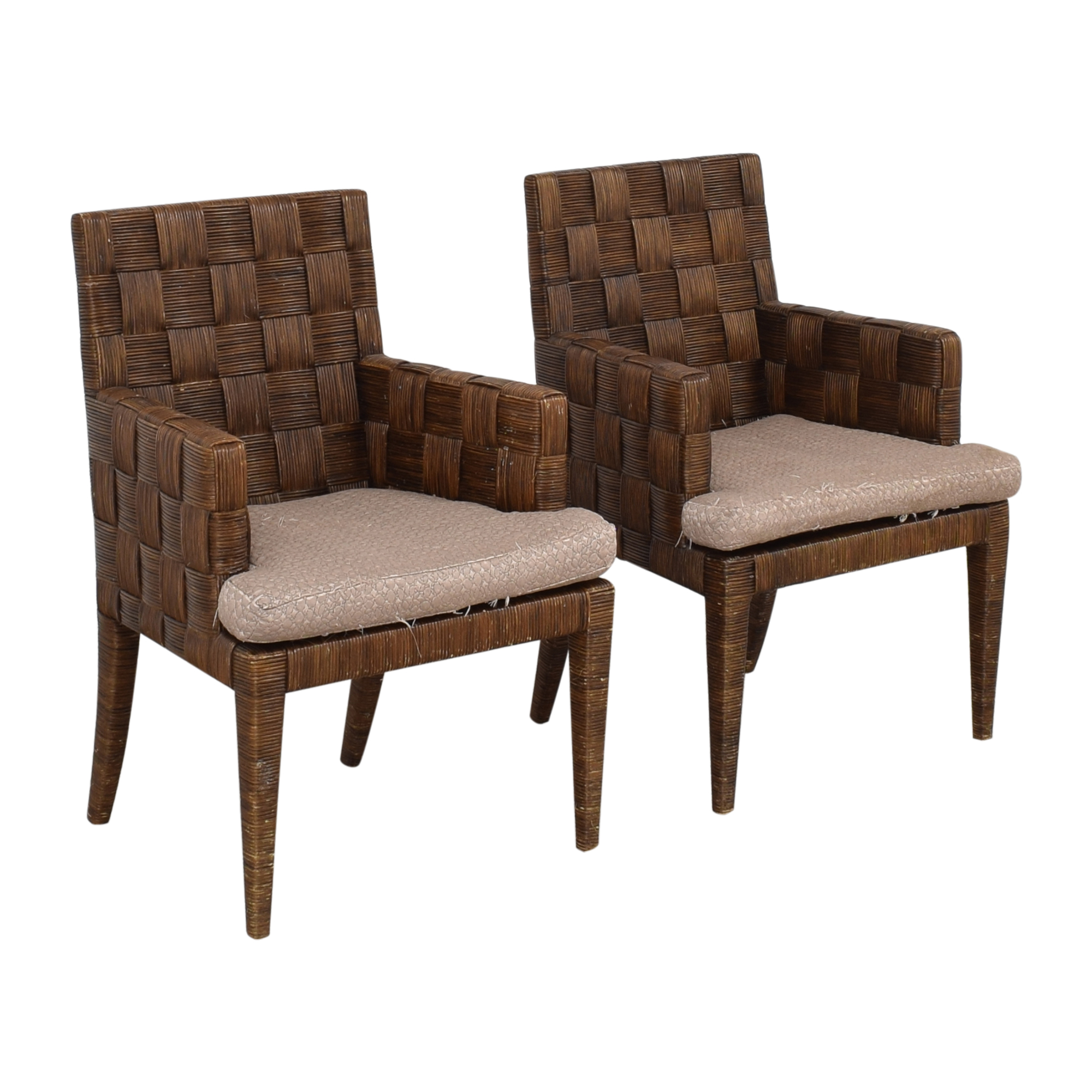 shop Donghia by John Hutton Block Island Dining Armchairs Donghia