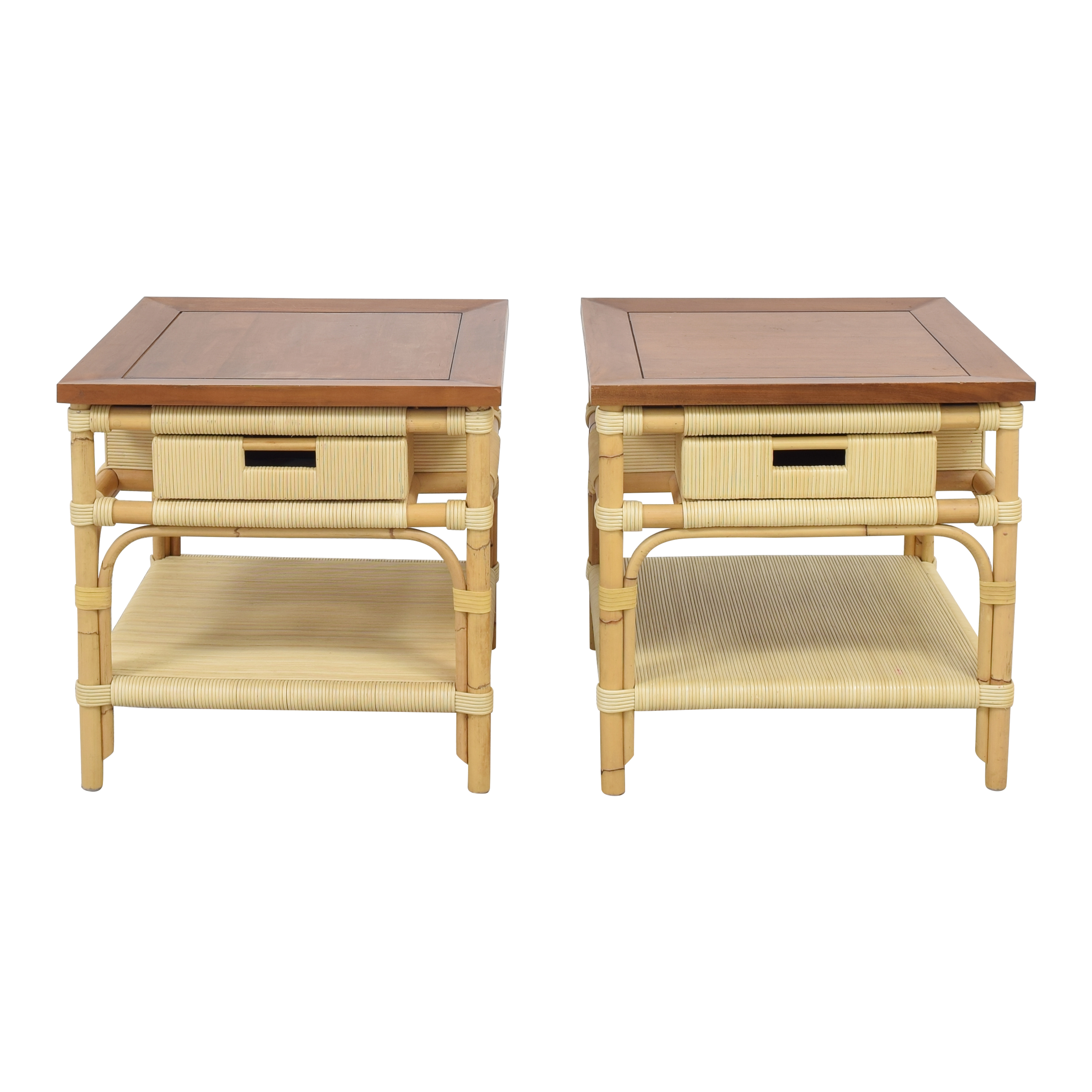 Donghia Modern Bamboo and Reed Tables sale