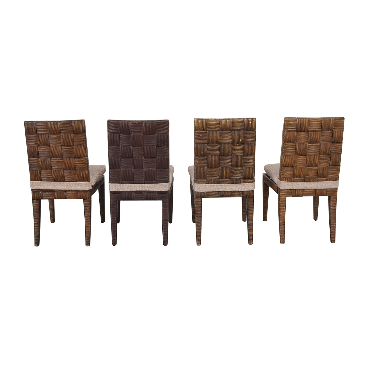 Donghia Donghia John Hutton Block Island Side Dining Chairs second hand