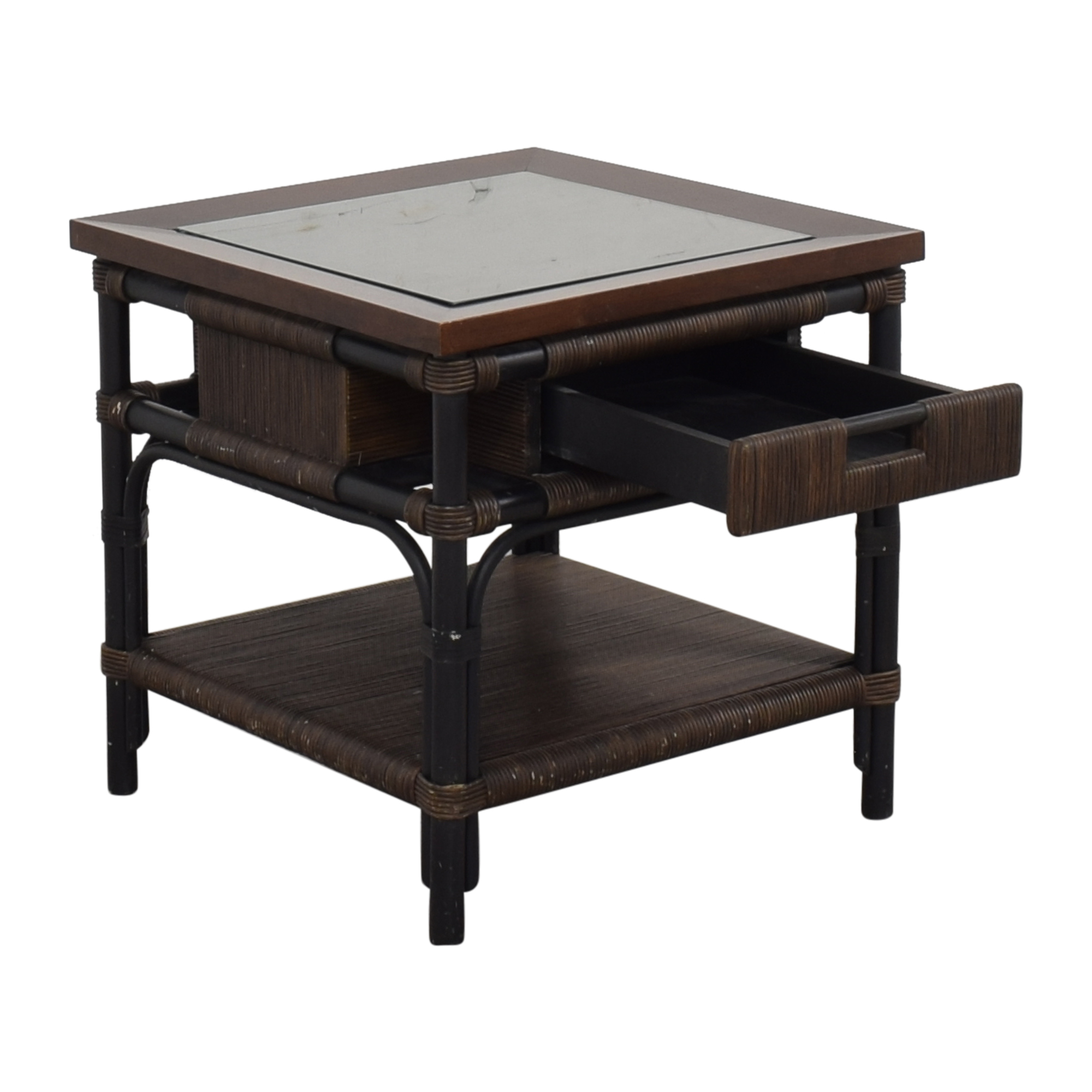shop Donghia Modern Bamboo and Reed Table Donghia End Tables