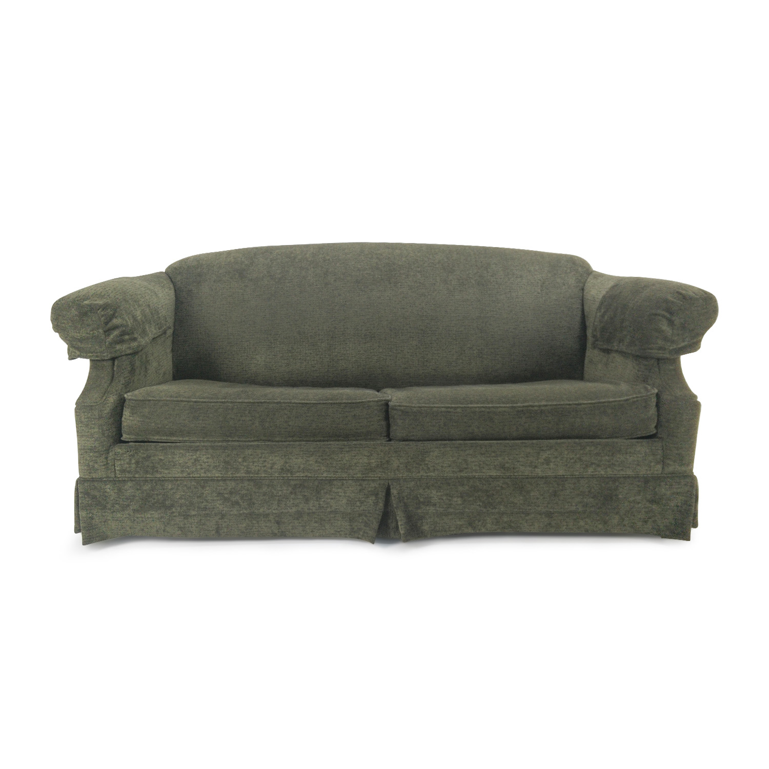 Green Fabric Sofa with Pullout Frame / Classic Sofas
