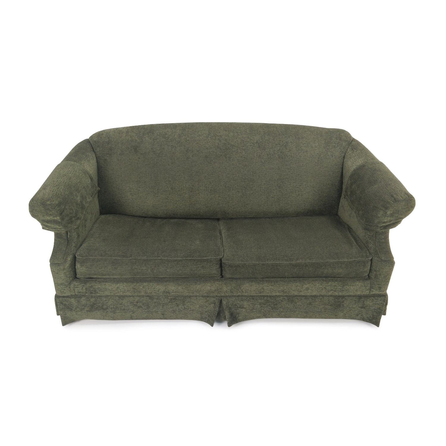 Custom Green Fabric Sofa with Pullout Frame on sale