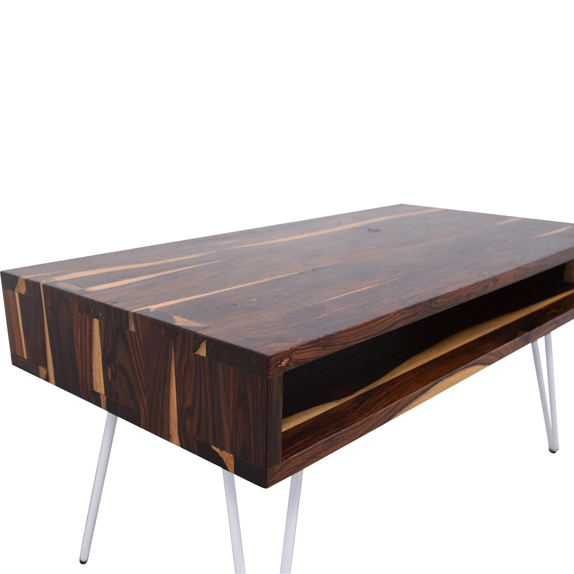 Sterling Home Sterling Home Mid Century Coffee Table brown & white