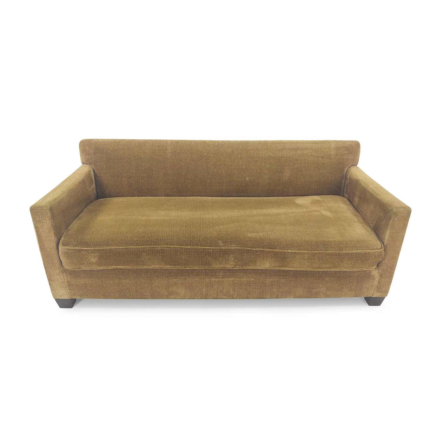 64% OFF Two Cushion Brown Slightly Tufted Couch Sofas
