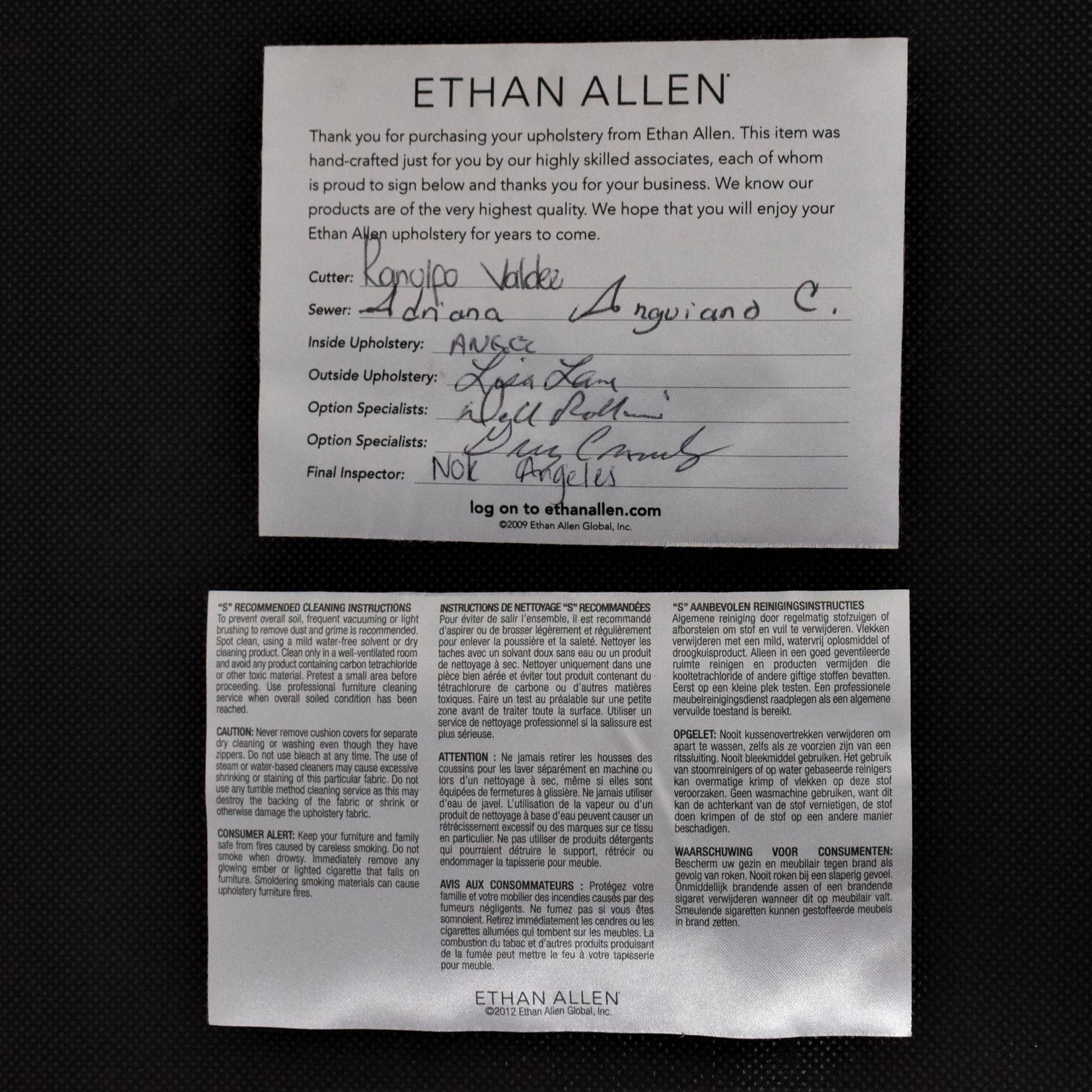Ethan Allen Drew Side Chairs sale