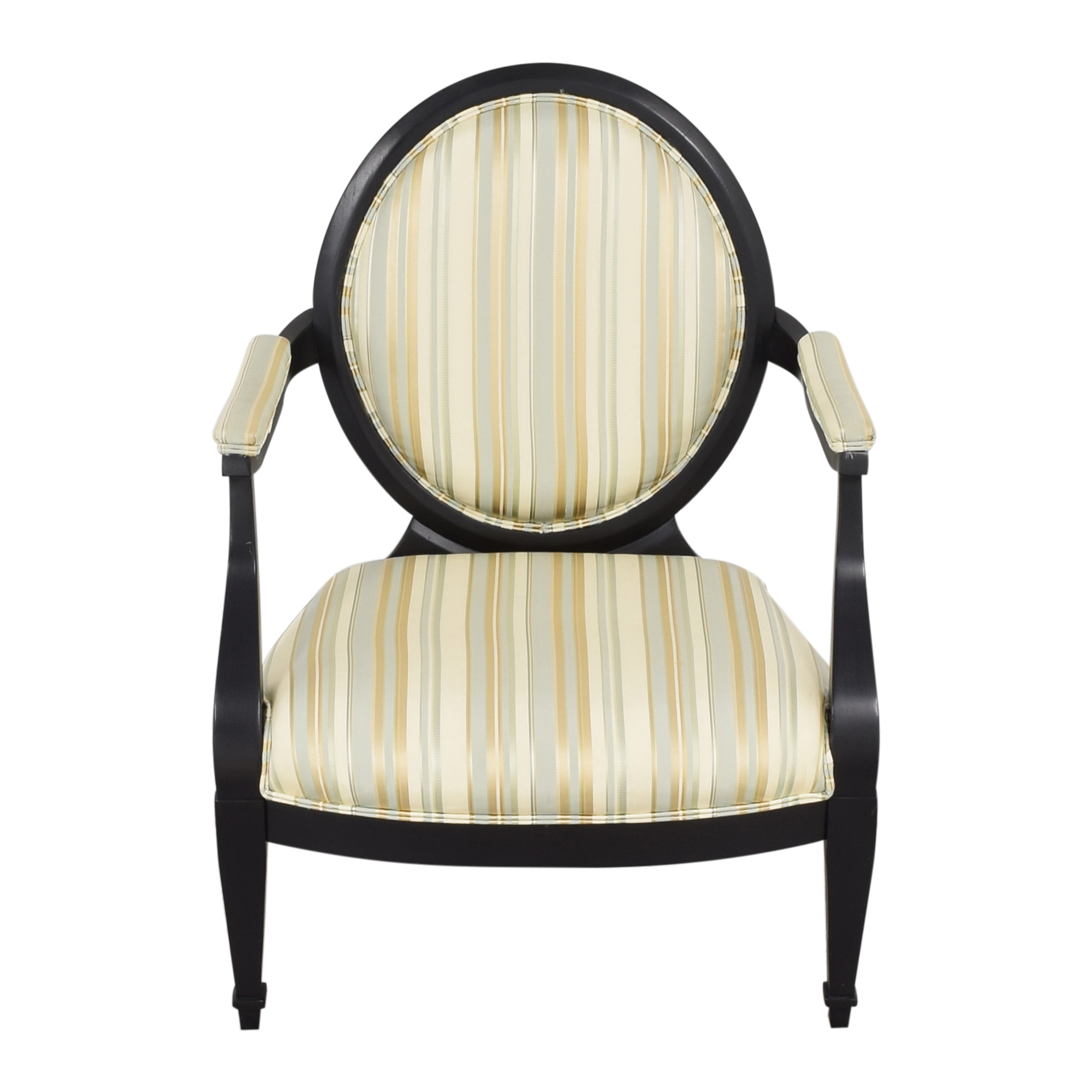 shop Hickory White Silk and Wood Armchair Hickory White