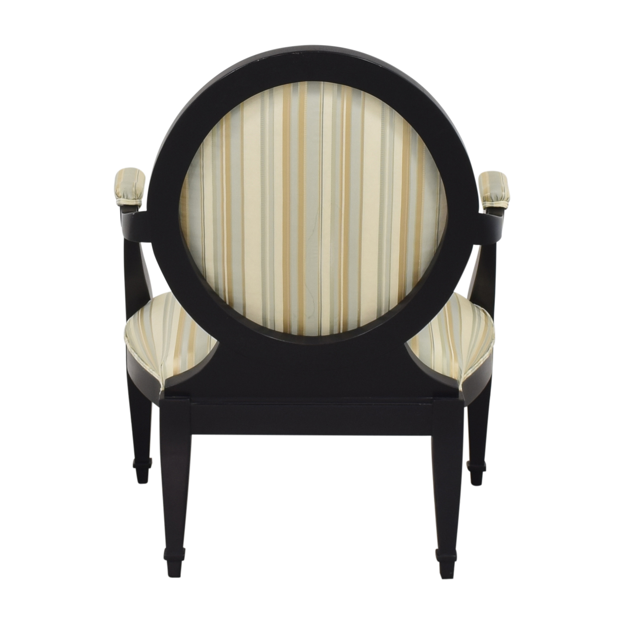 shop Hickory White Silk and Wood Armchair Hickory White Accent Chairs