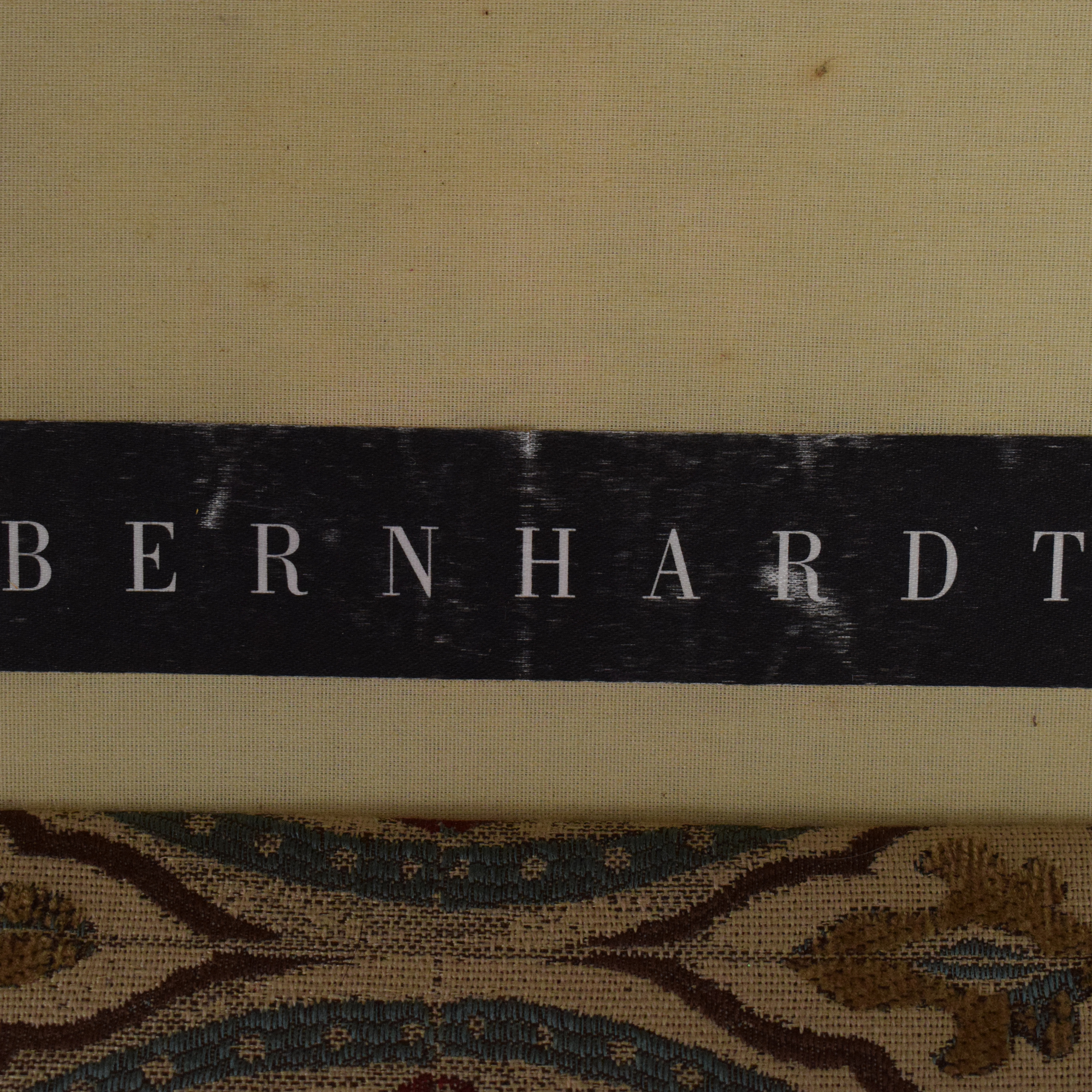 Bernhardt Saddle Arm Skirted Loveseat sale