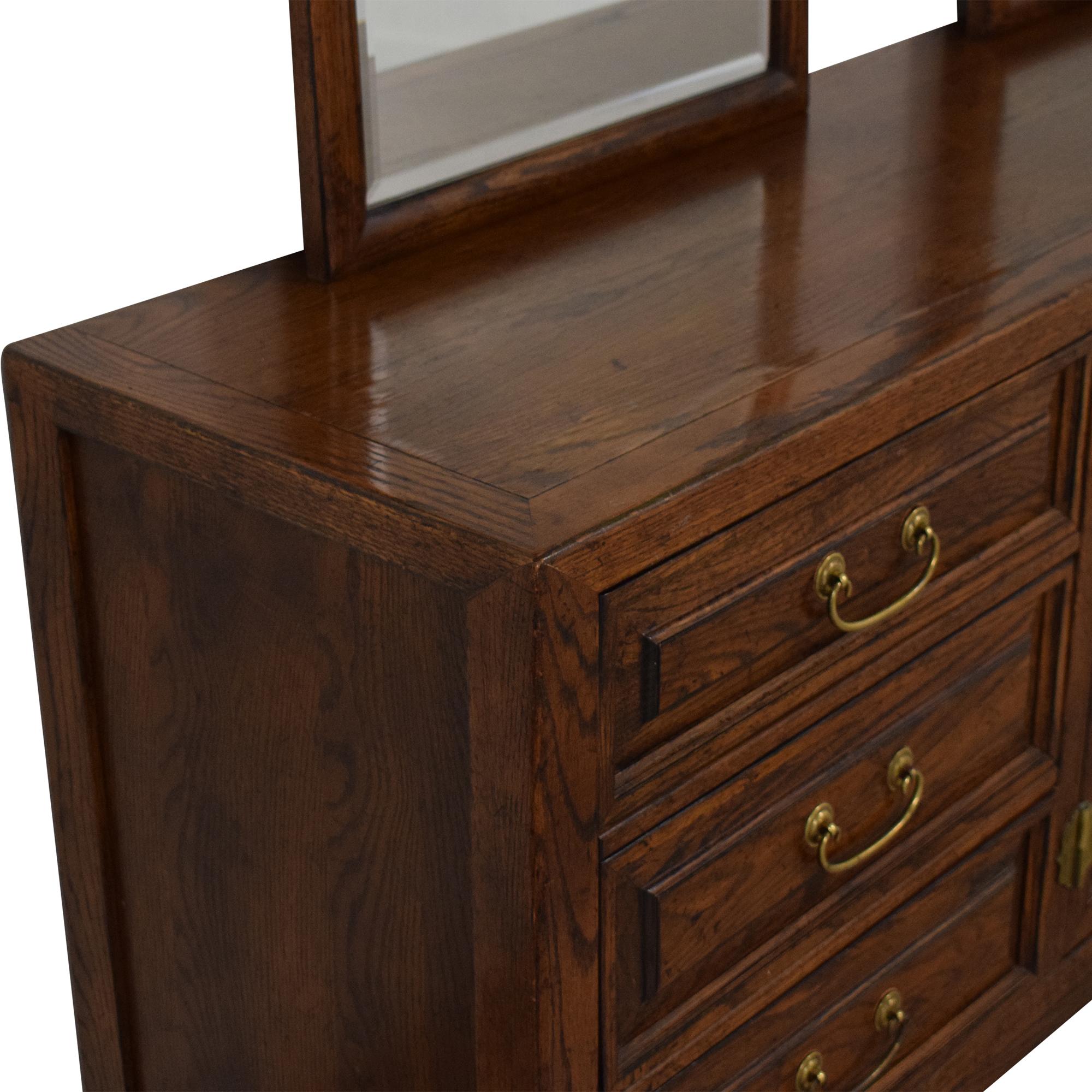 Century Furniture Century Furniture Nine Drawer Double Mirror Dresser ct