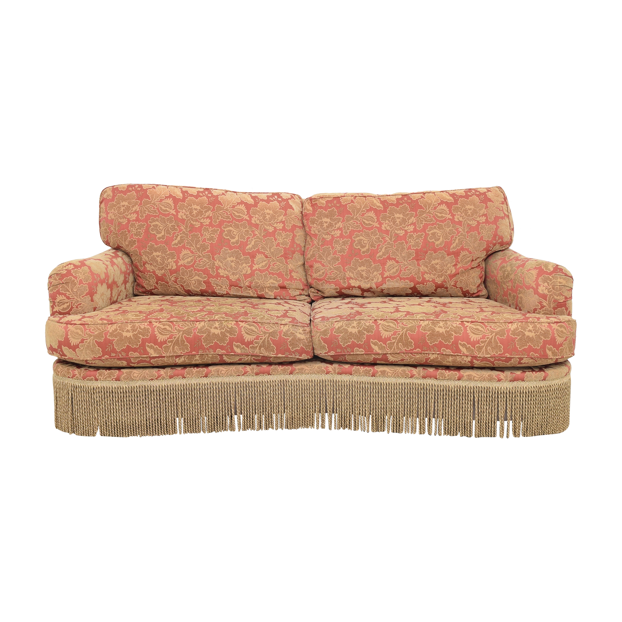 Vintage Style Fringe Skirted Sofa second hand