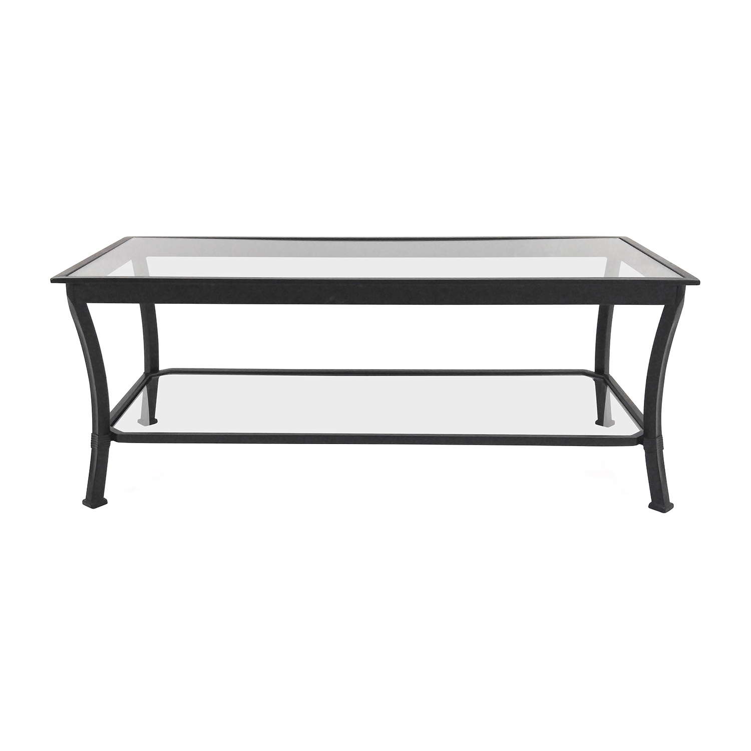 49 off crate and barrel crate barrel glass coffee table tables Used glass coffee table