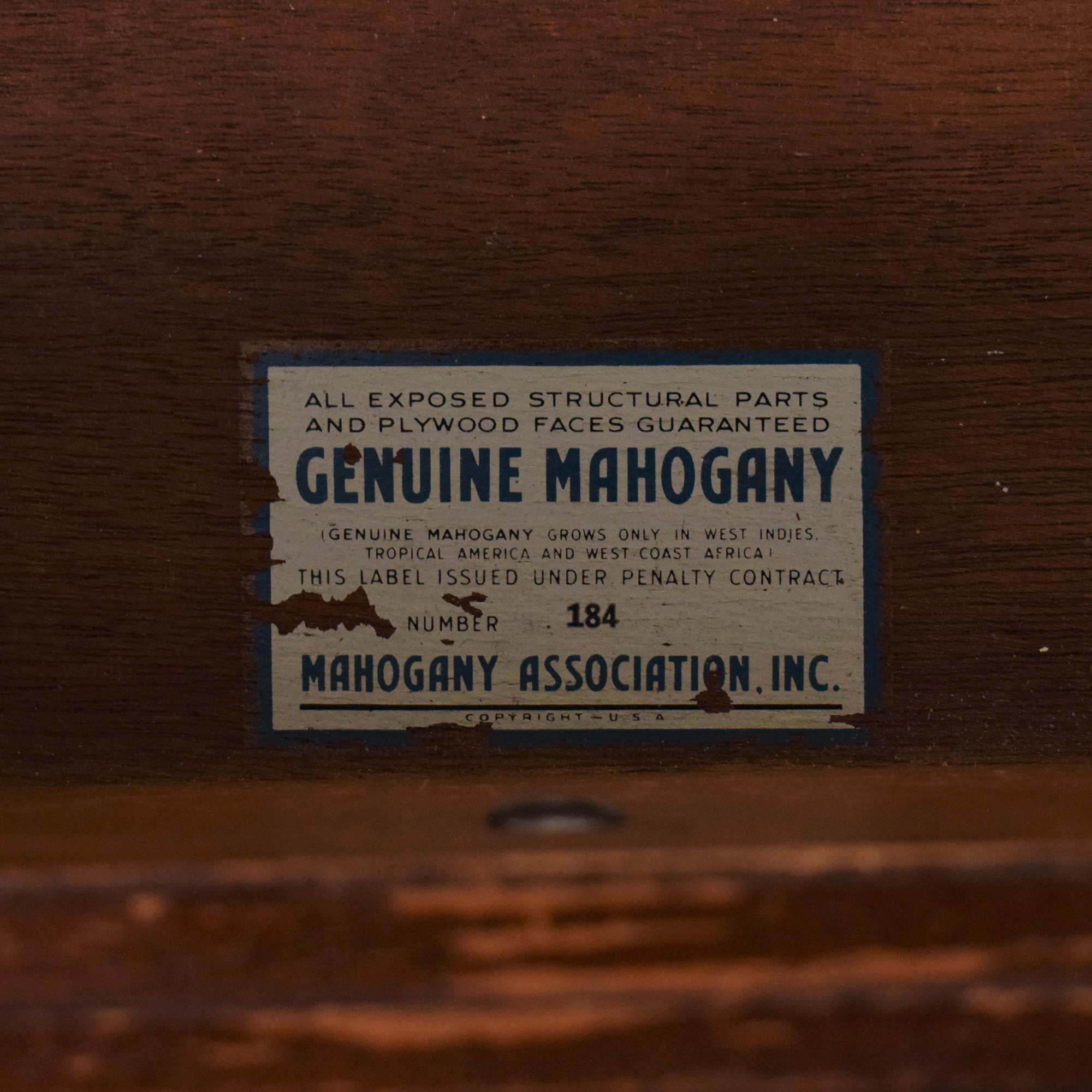 Stiehl Furniture Stiehl Furniture Mahogany Secretary Desk Tables