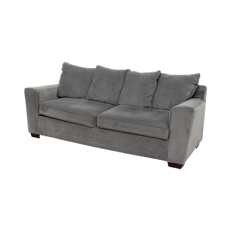 Marvelous 49 Off Jennifer Furniture Jennifer Convertible Microfiber Sofa Sofas Machost Co Dining Chair Design Ideas Machostcouk