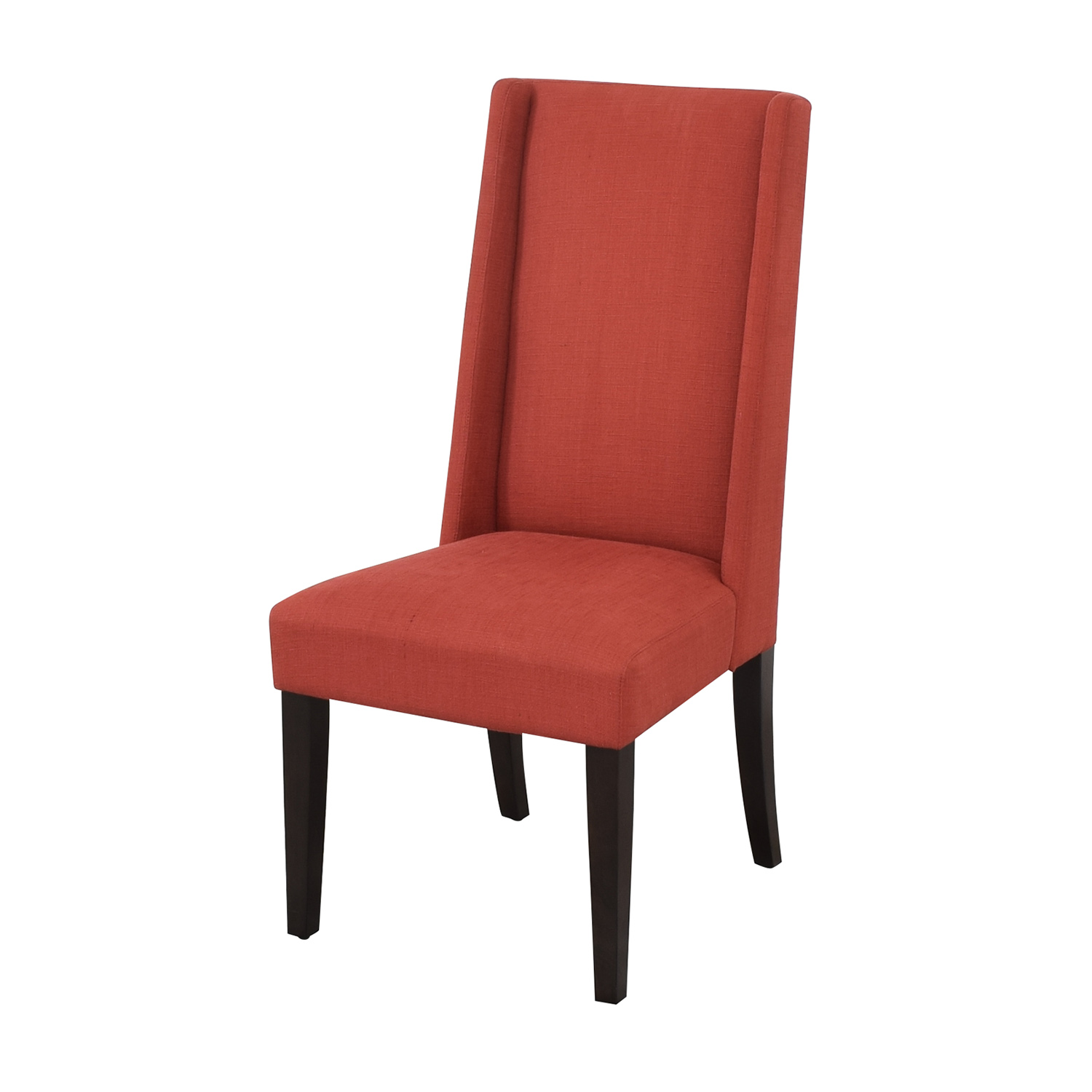 West Elm West Elm Willoughby Dining Chairs red and black