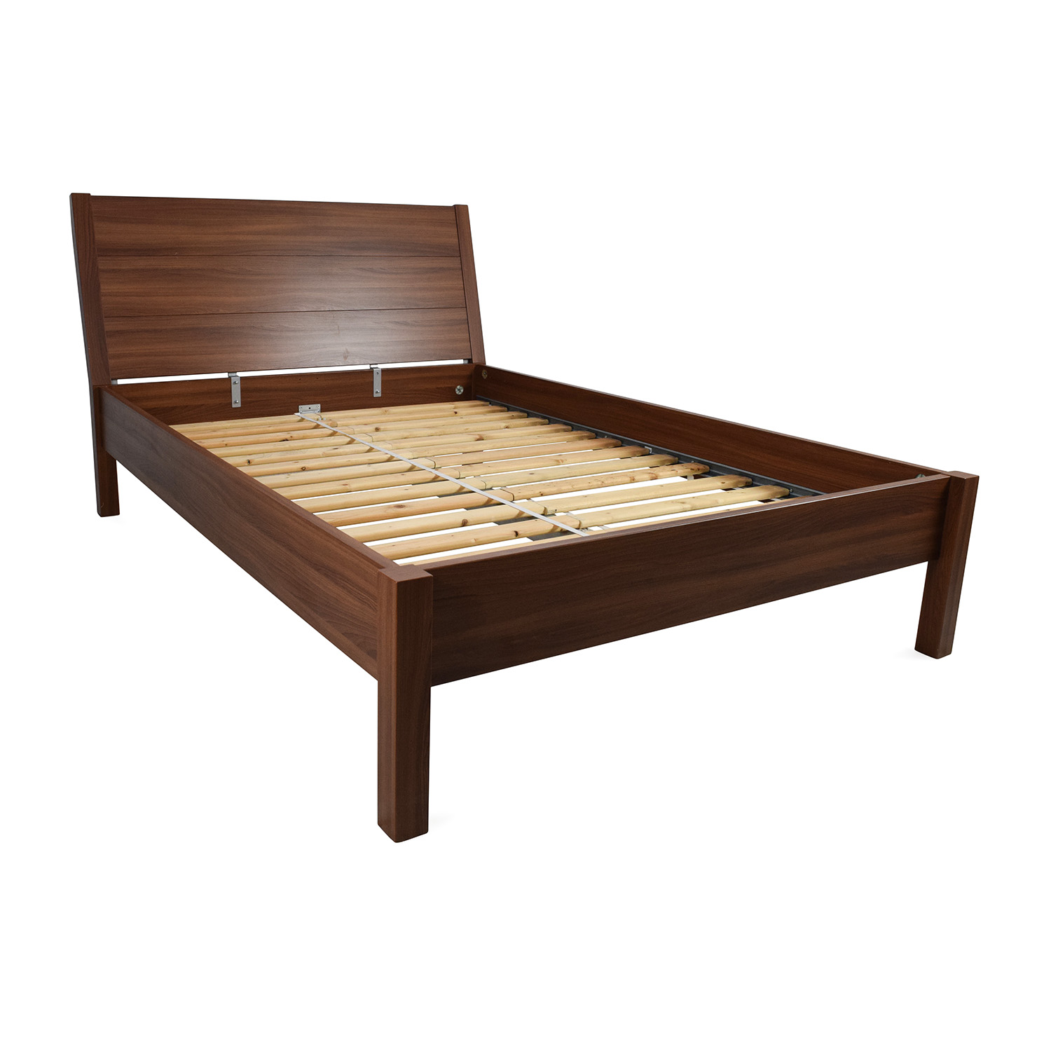 shop ikea full size brown bed frame ikea
