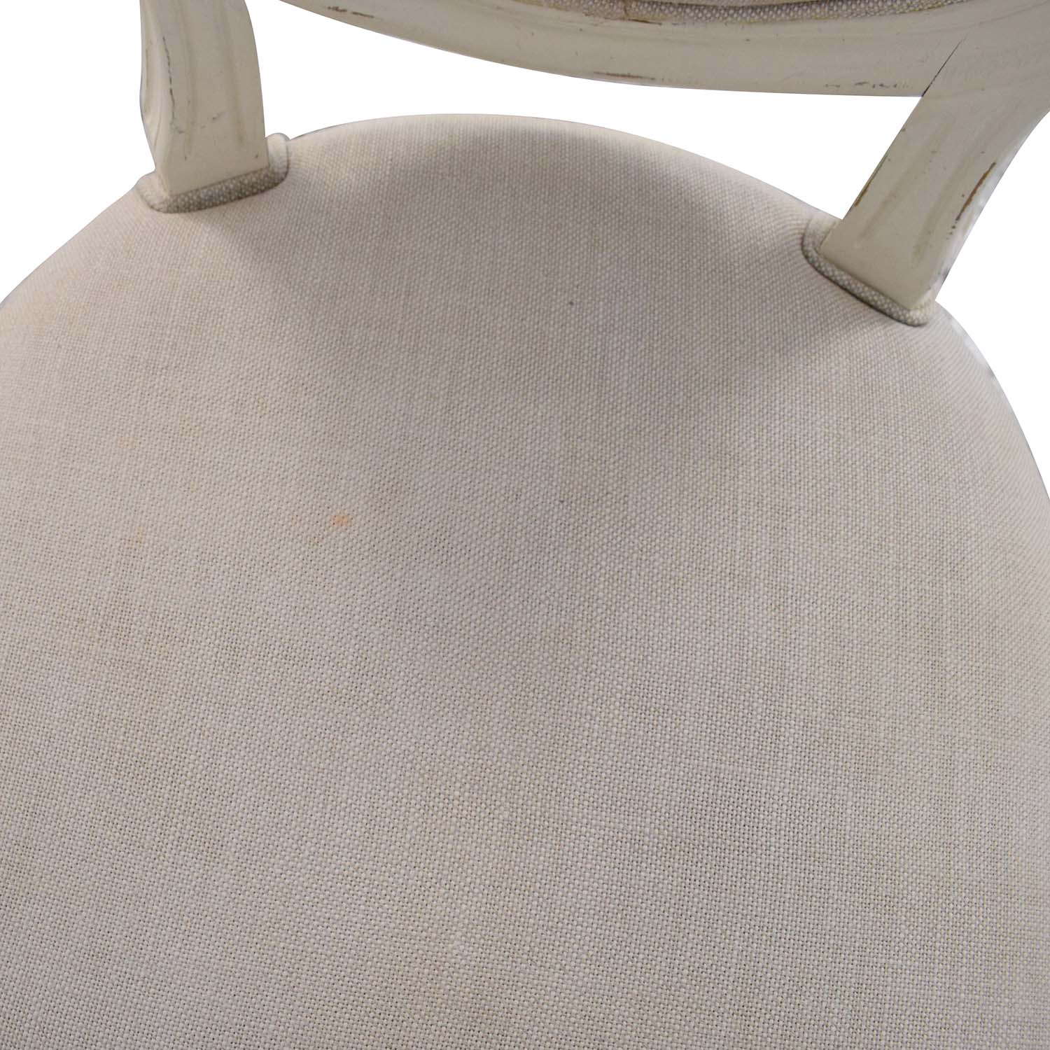 Restoration Hardware Restoration Hardware Vintage French Round Fabric Stools second hand