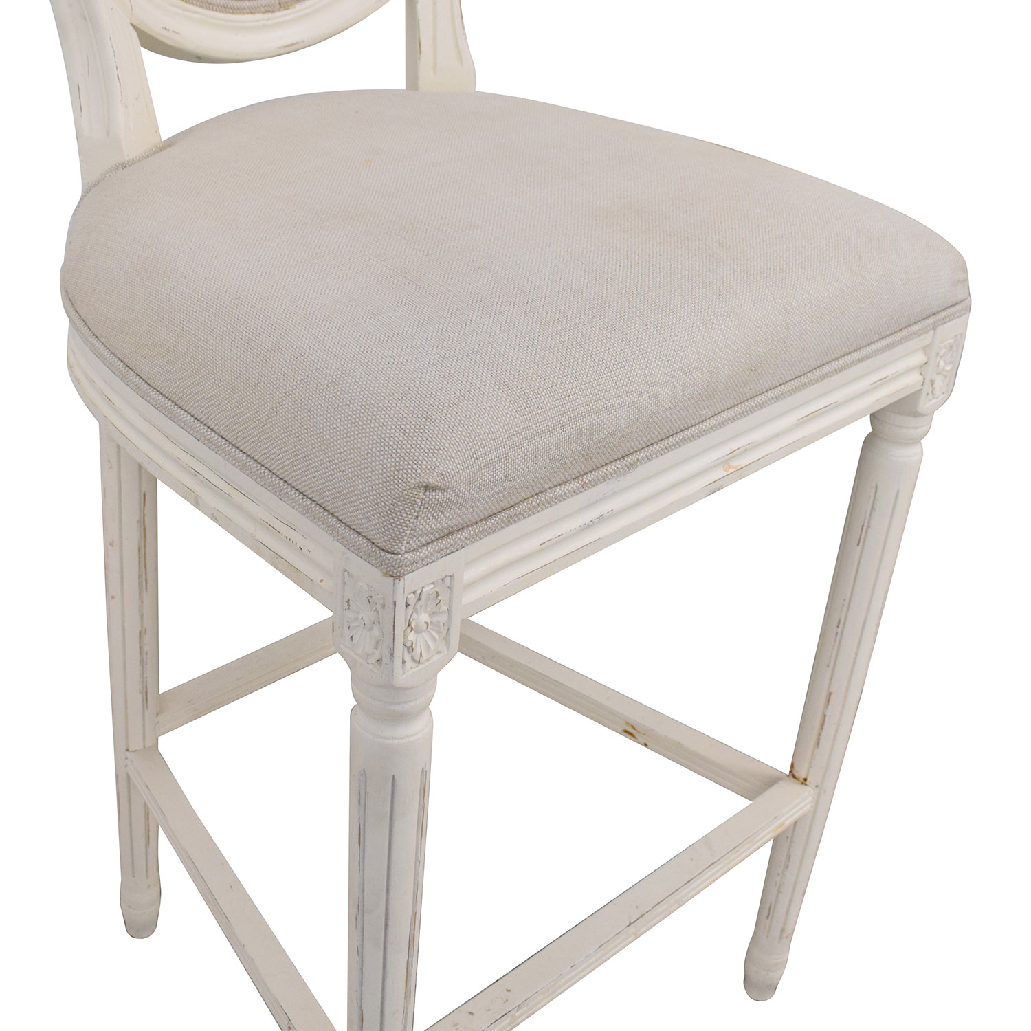 shop Restoration Hardware Vintage French Round Fabric Stools Restoration Hardware Chairs