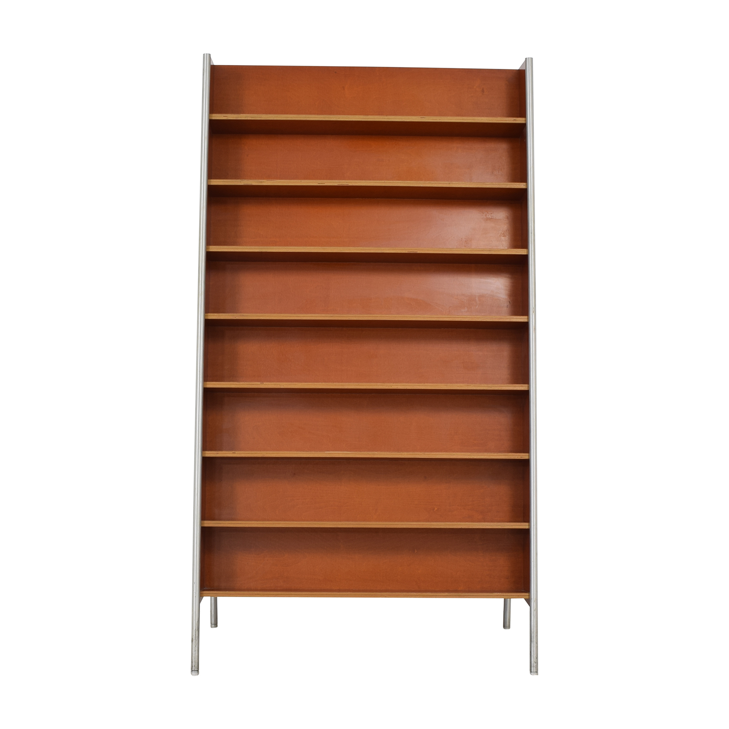 Custom Metal and Wood Bookcase used