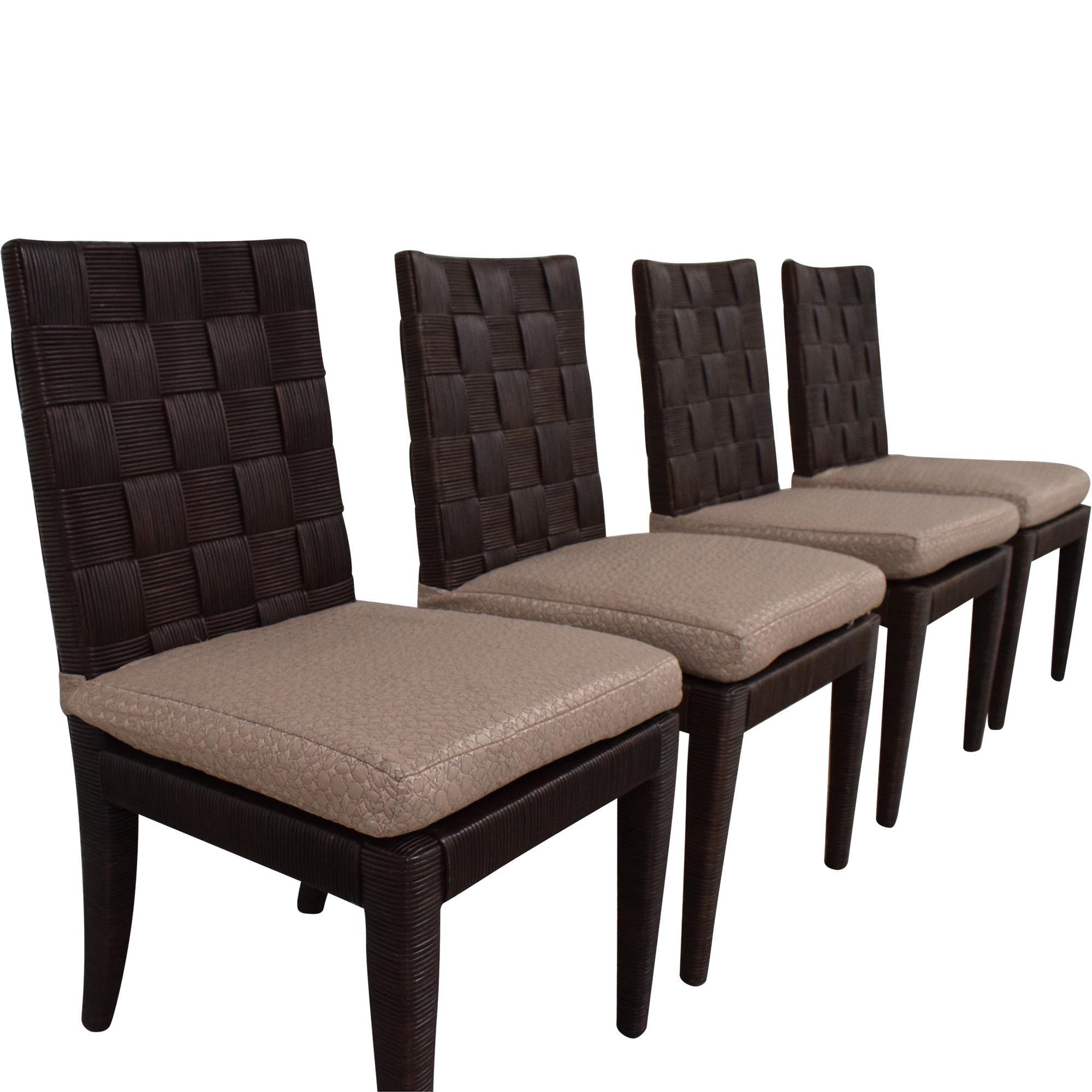 Donghia John Hutton Block Island Side Dining Chairs sale
