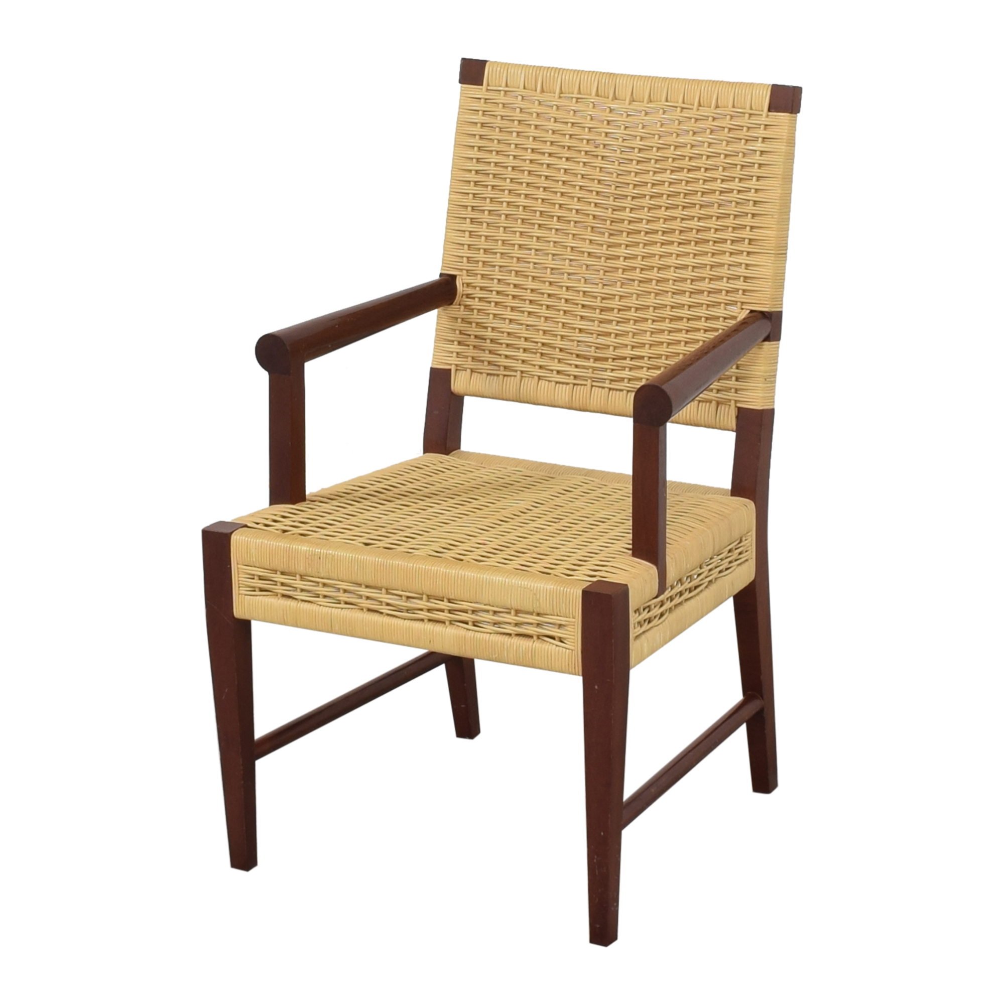 shop Donghia Donghia Dining Chairs in Merbau Wood with Raffia Weaving online