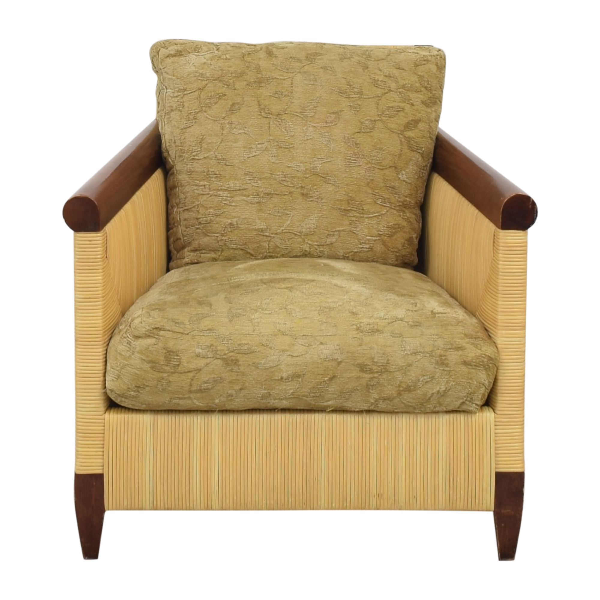 Donghia Donghia by John Hutton Mahogany and Wicker Lounger nj