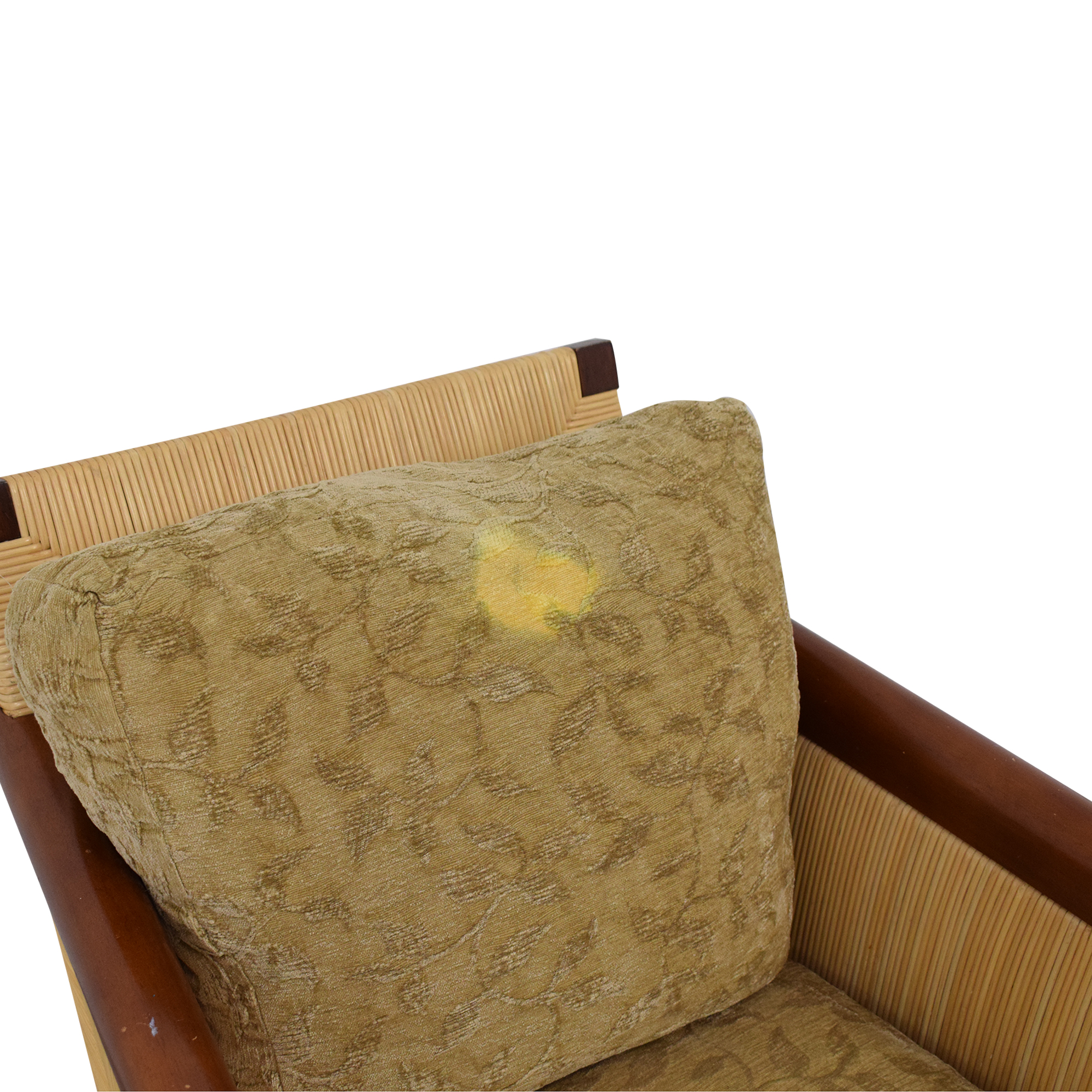 Donghia Donghia by John Hutton Mahogany and Wicker Lounger Accent Chairs