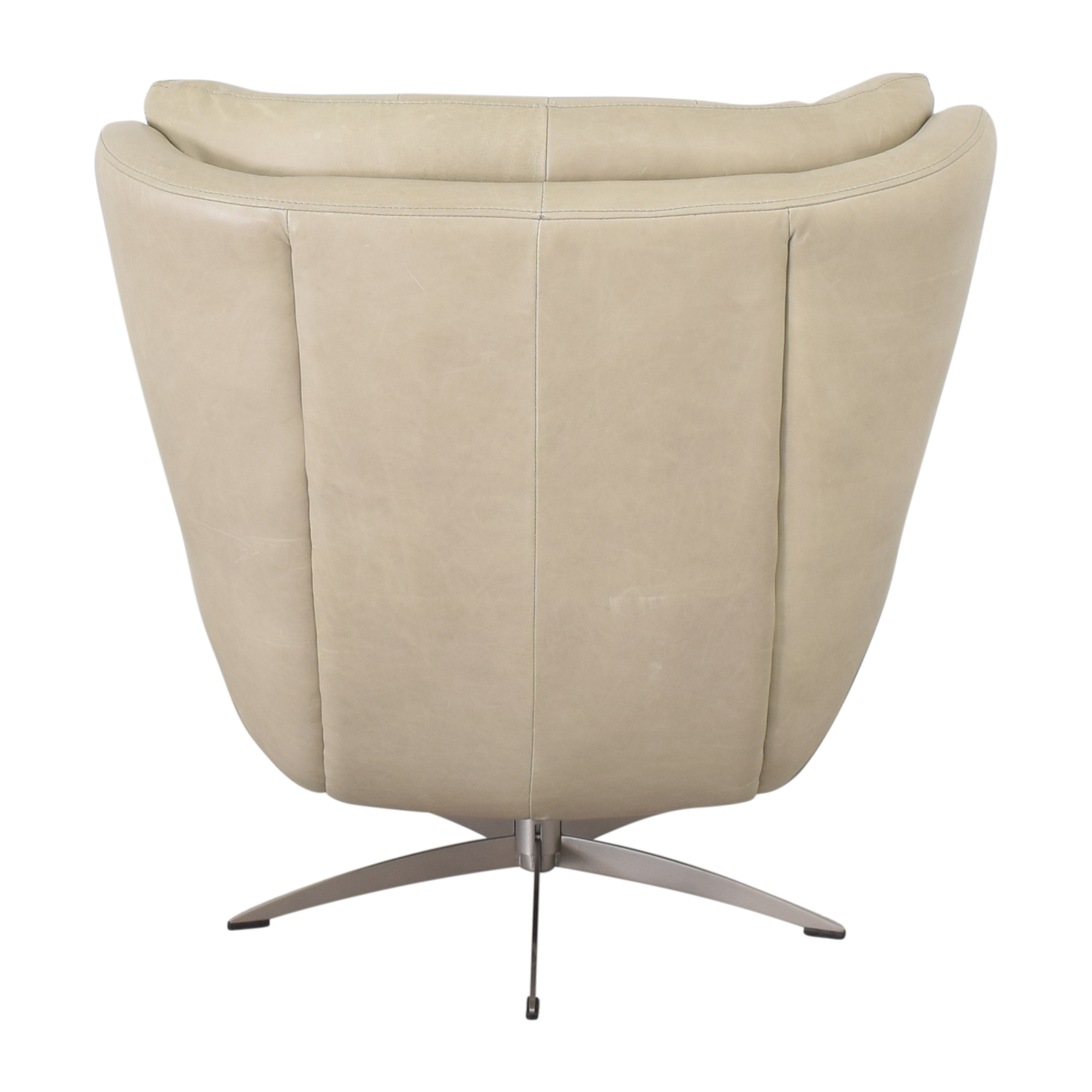 buy Pottery Barn Wells Leather Swivel Armchair Pottery Barn Chairs