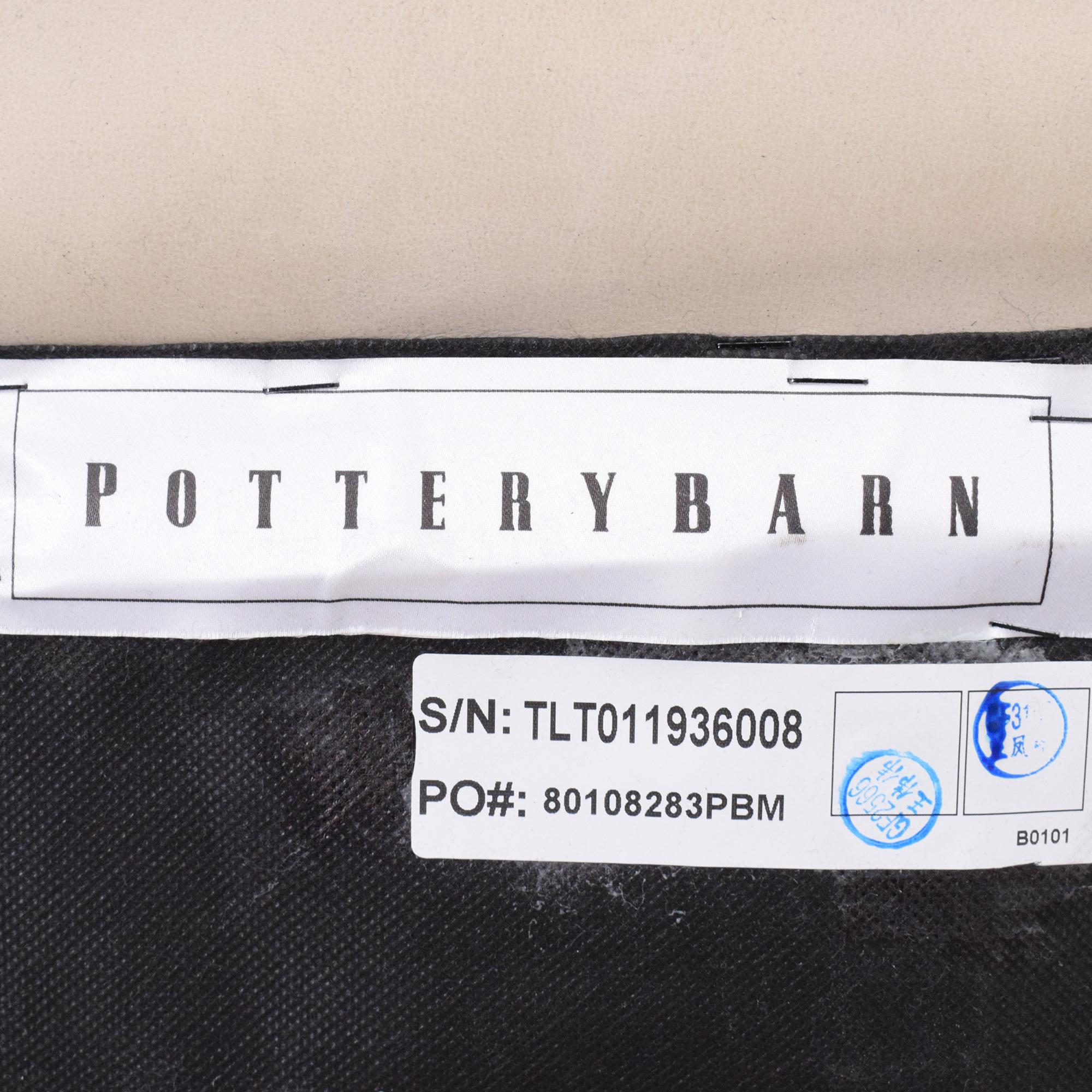 buy Pottery Barn Pottery Barn Wells Leather Swivel Armchair online