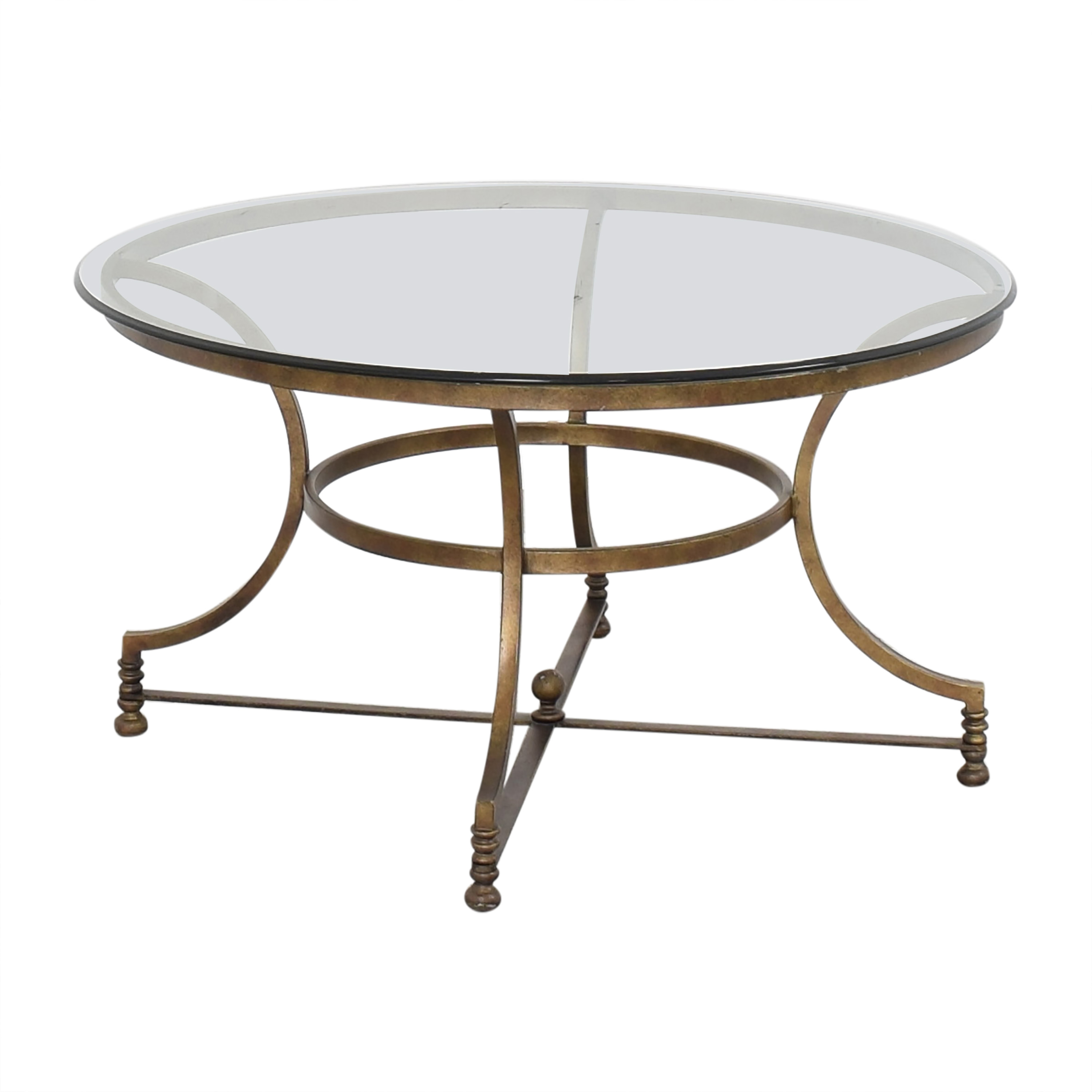 Thomasville Round Glass Coffee Table Coffee Tables