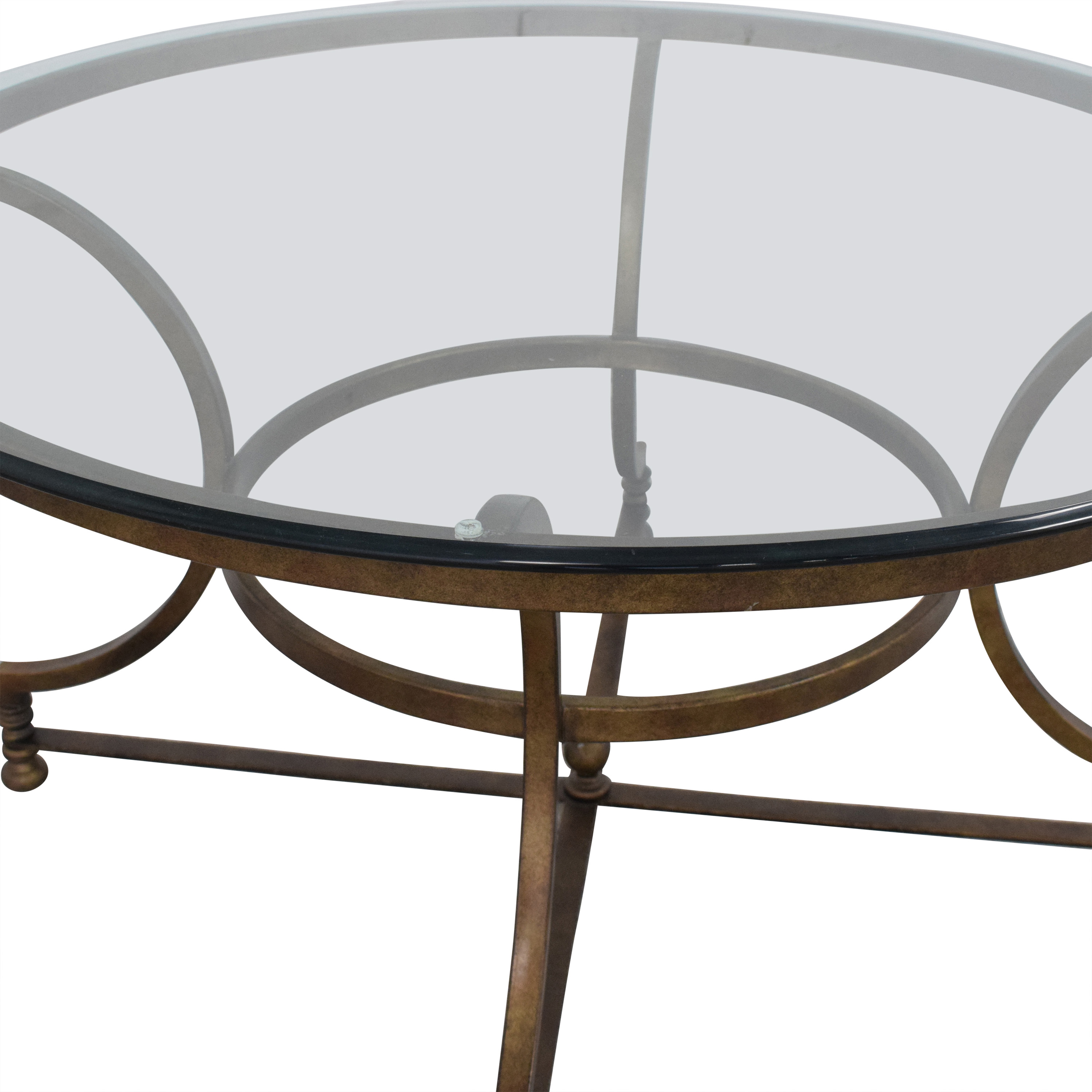 Thomasville Round Glass Coffee Table nj
