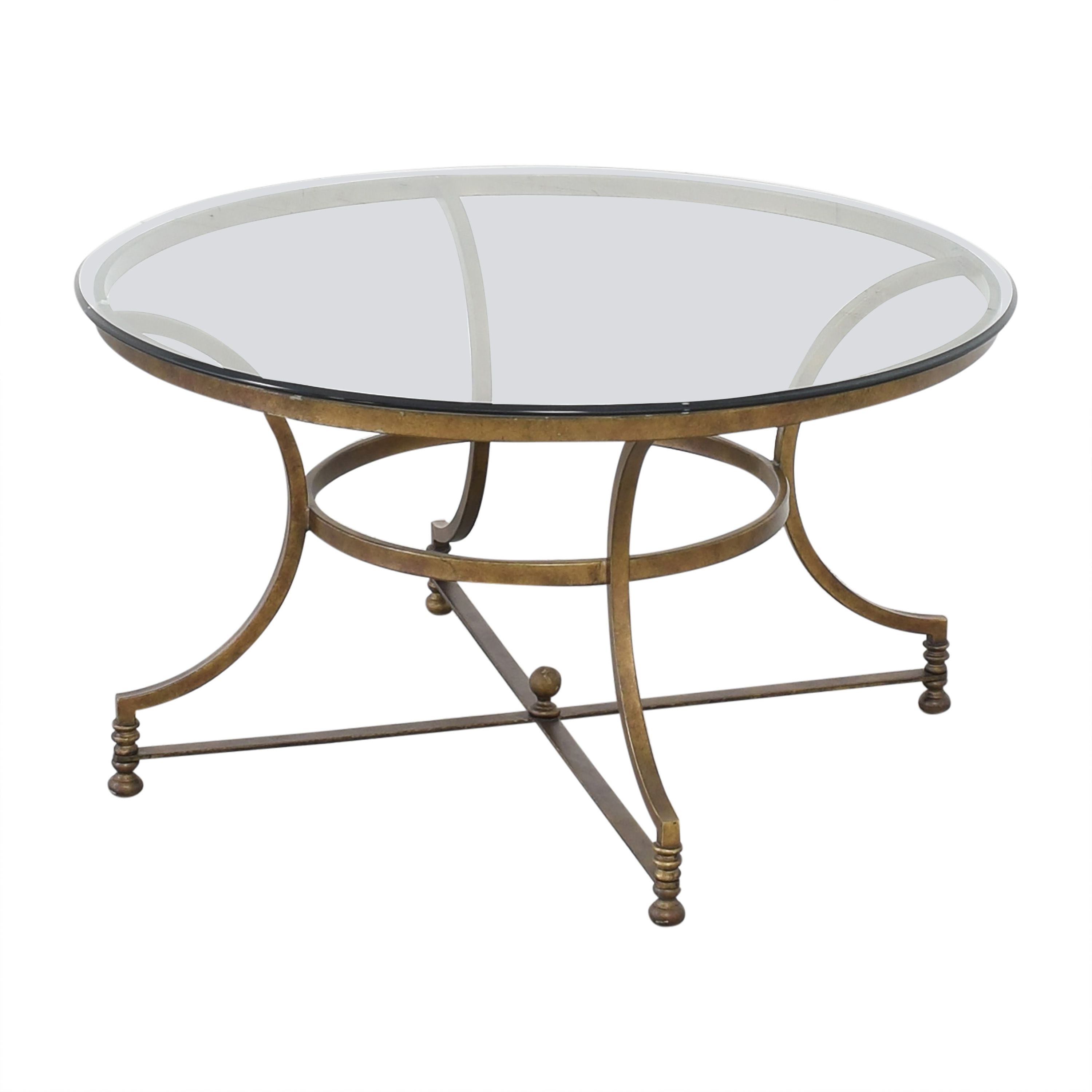 Thomasville Round Glass Coffee Table discount