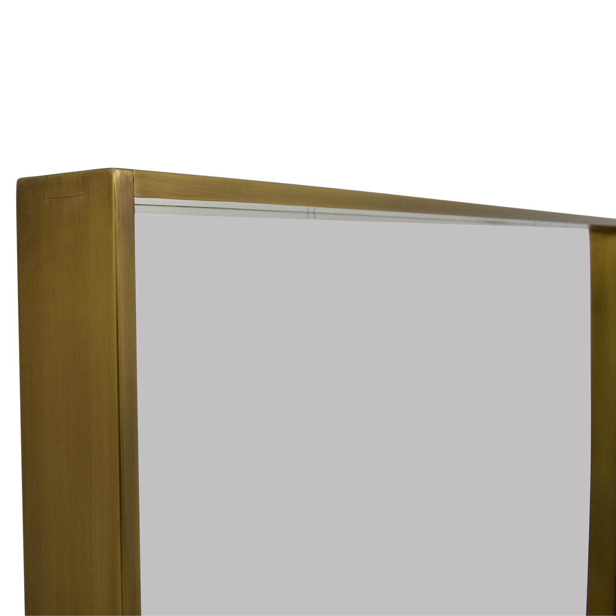 Restoration Hardware Metal Floating Mirror / Mirrors