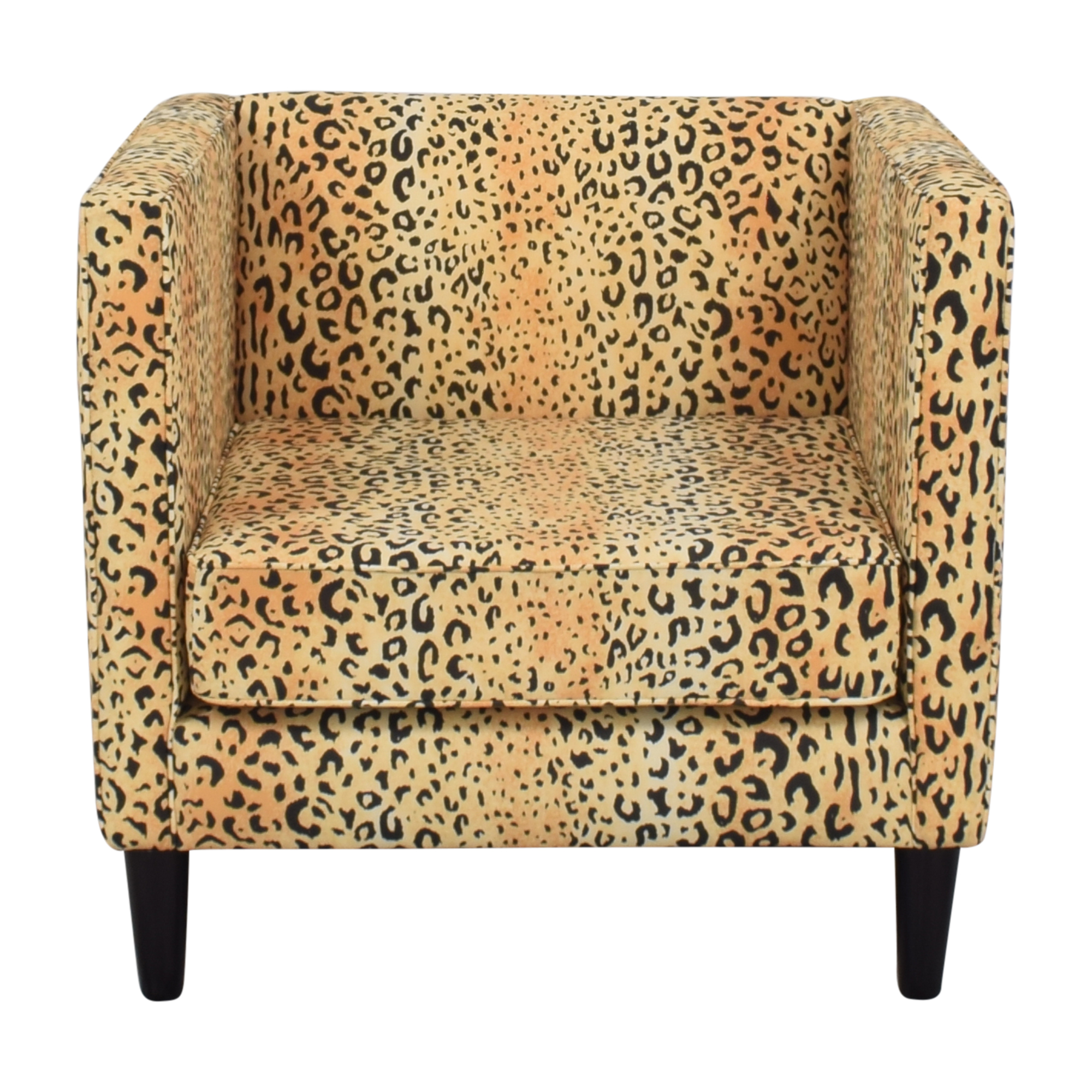 shop The Inside The Inside Tuxedo Chair in Leopard Print online