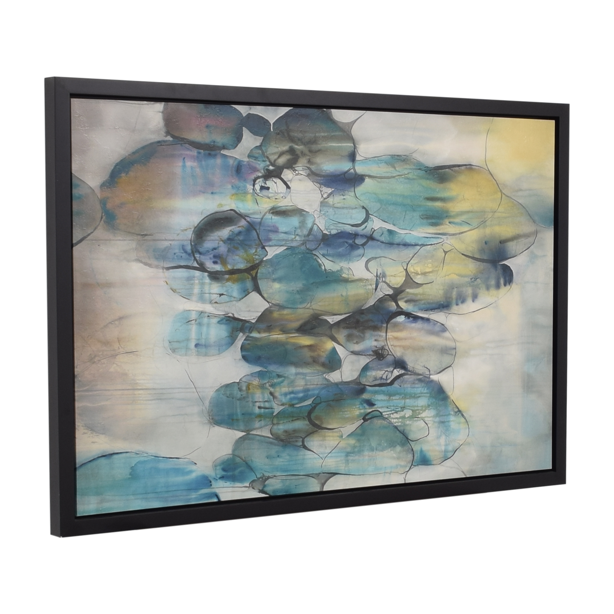 Crate & Barrel Crate & Barrel Turquoise Assemblage Print nyc