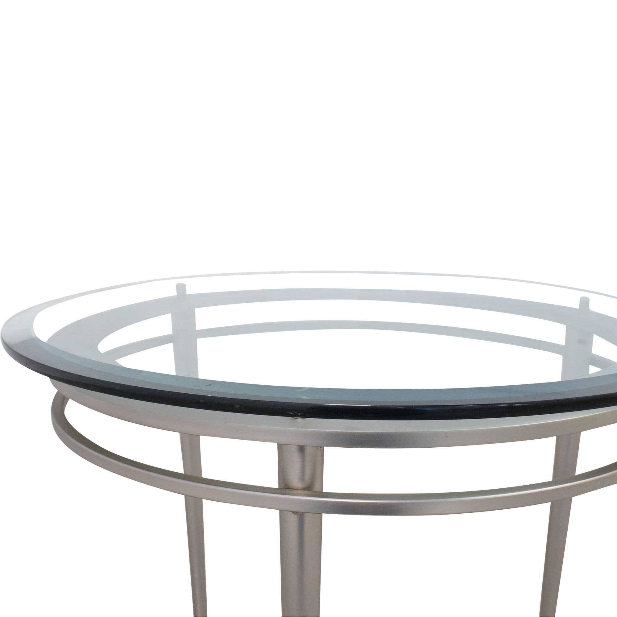 Ethan Allen Ethan Allen Round Top Side Table silver