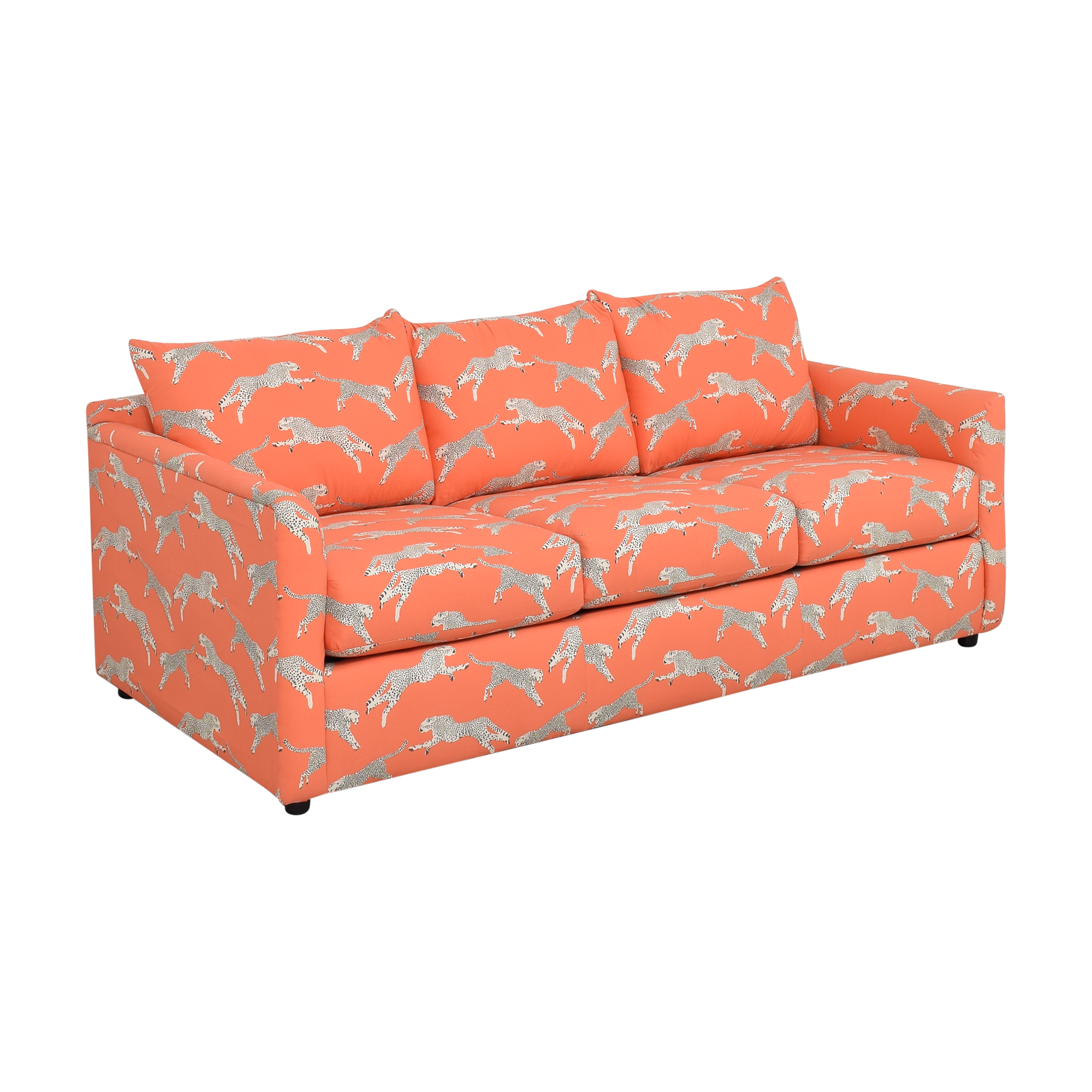 shop The Inside Tailored Sleeper Sofa in Coral Zebra by Scalamandré The Inside Sofas