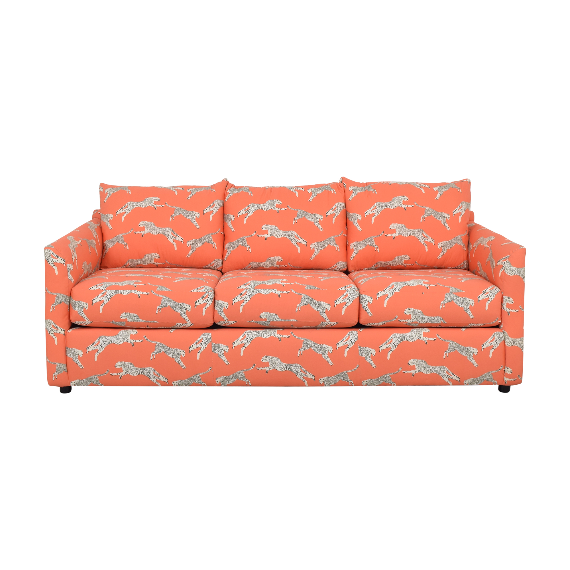 The Inside The Inside Tailored Sleeper Sofa in Coral Zebra by Scalamandré Sofas